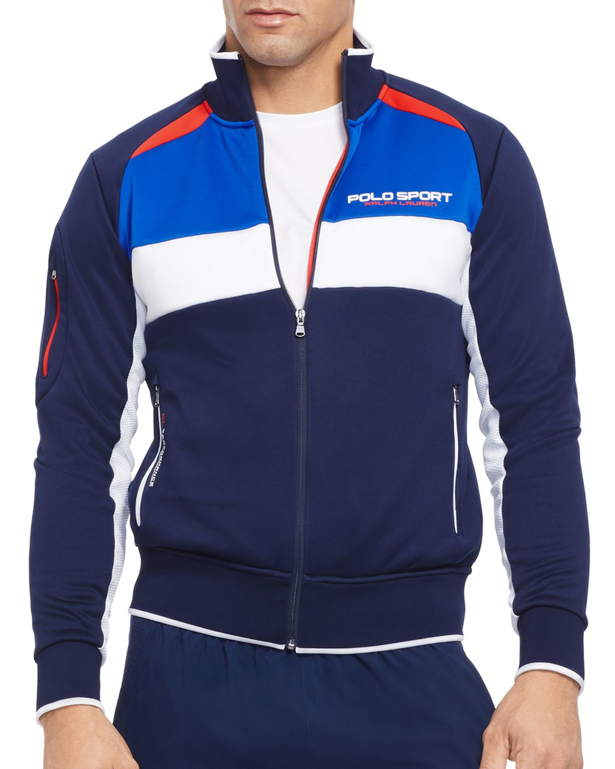 2beacde6b Polo Ralph Lauren Color-blocked Track Jacket in Blue for Men - Lyst
