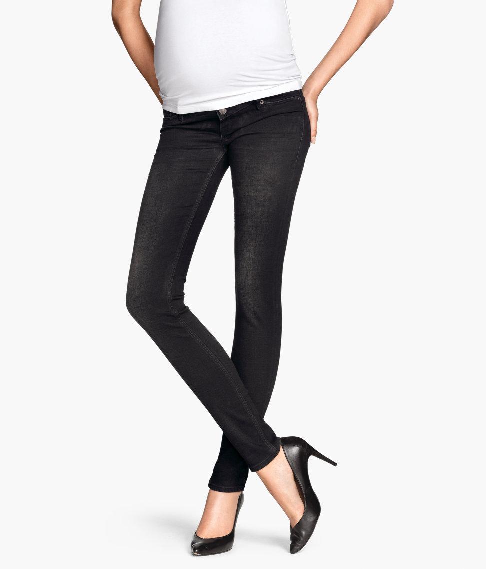 1db4f1e0ae60b H&M Mama Skinny Jeans in Black - Lyst