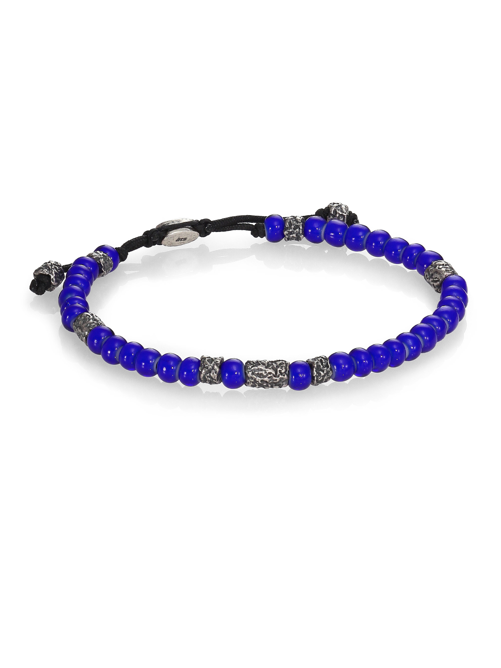 M. cohen African Beads Stacked Bracelet in Blue | Lyst