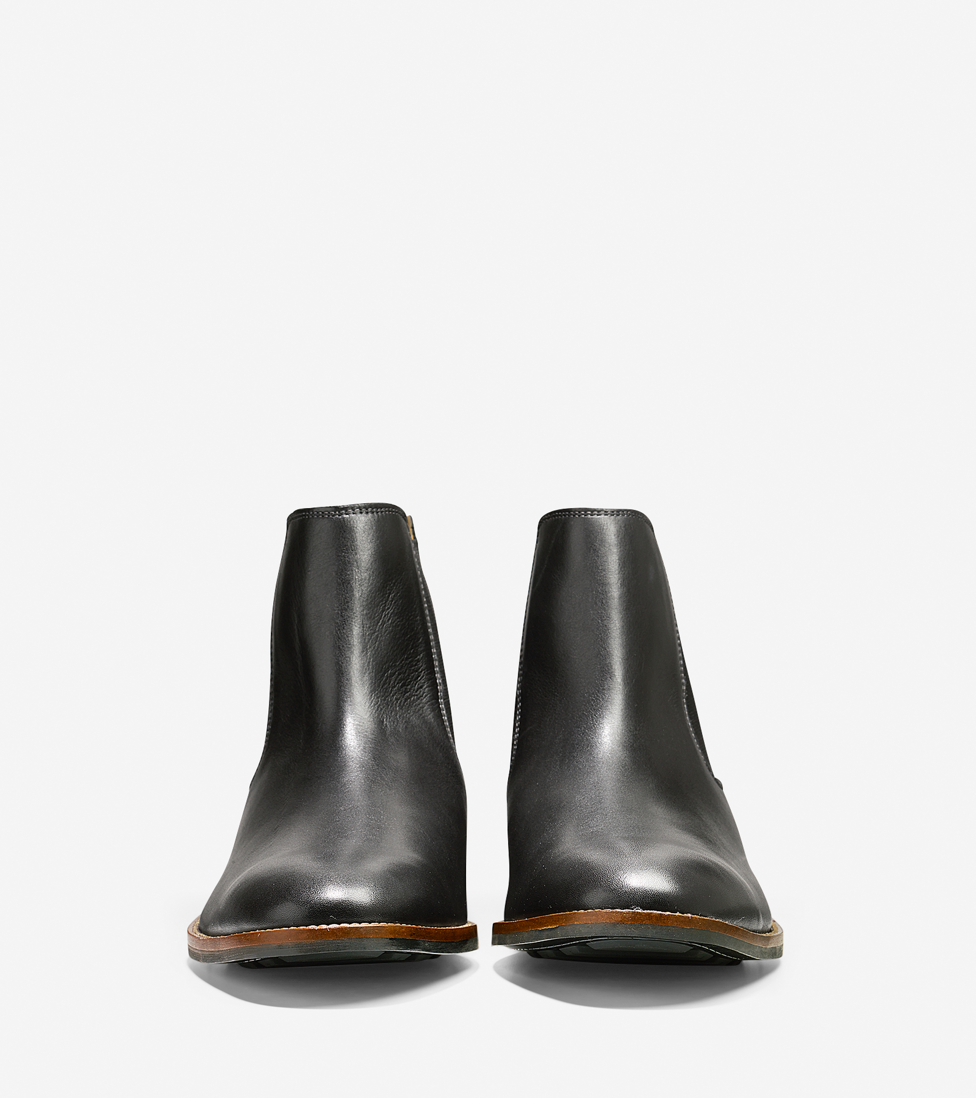 cole haan lenox hill leather chelsea boot in black for