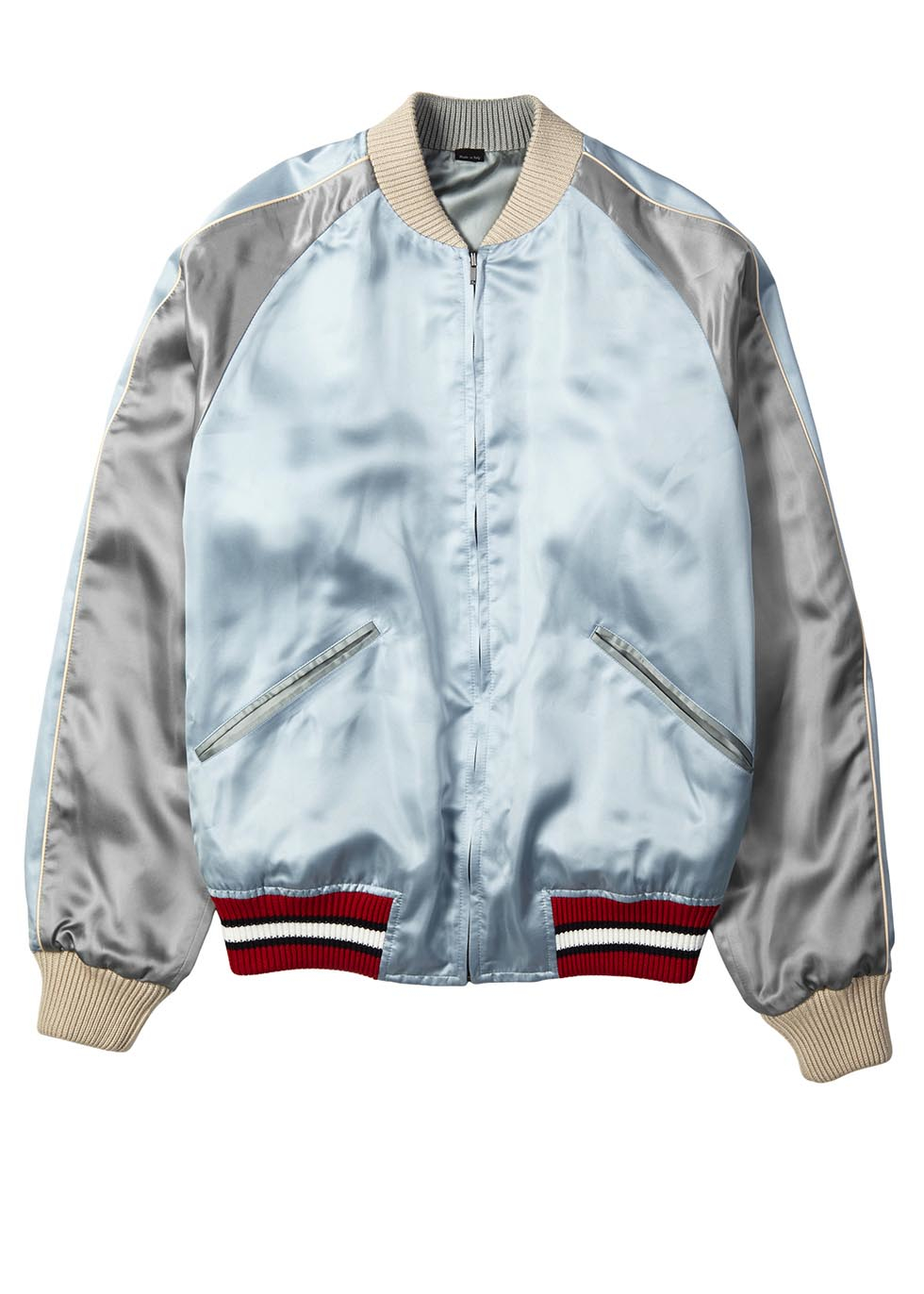 c0317a7bc41b6b Gucci Reversible Embroidered Satin Bomber Jacket in Blue for Men - Lyst