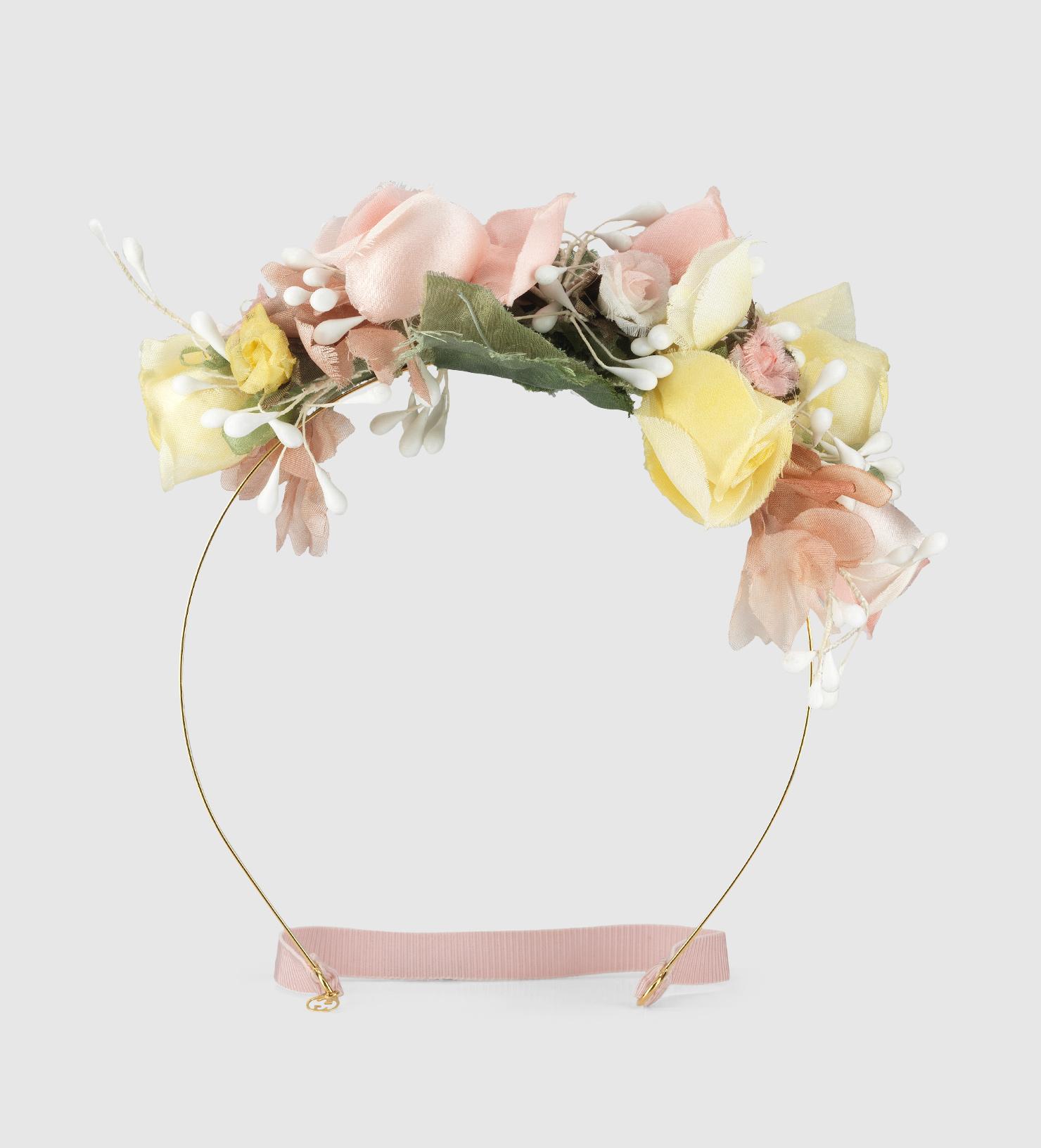 Lyst Gucci Flower Hairband In Silk