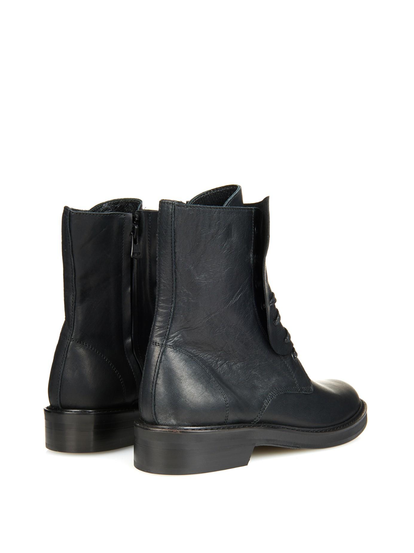 Y's by Yohji Yamamoto Leather Mid-Calf Boots visit sale online buy cheap footlocker finishline sale big sale LgyHE
