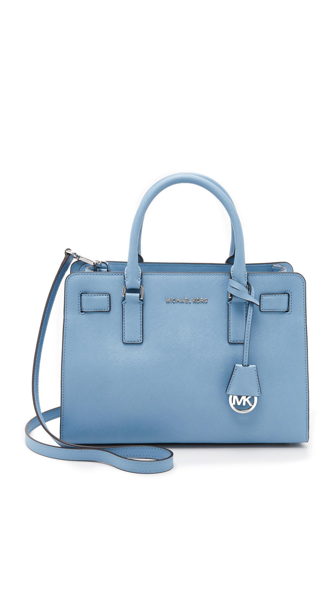 61d7f1756649 ... switzerland lyst michael michael kors dillon satchel in blue ccee6 a2b82