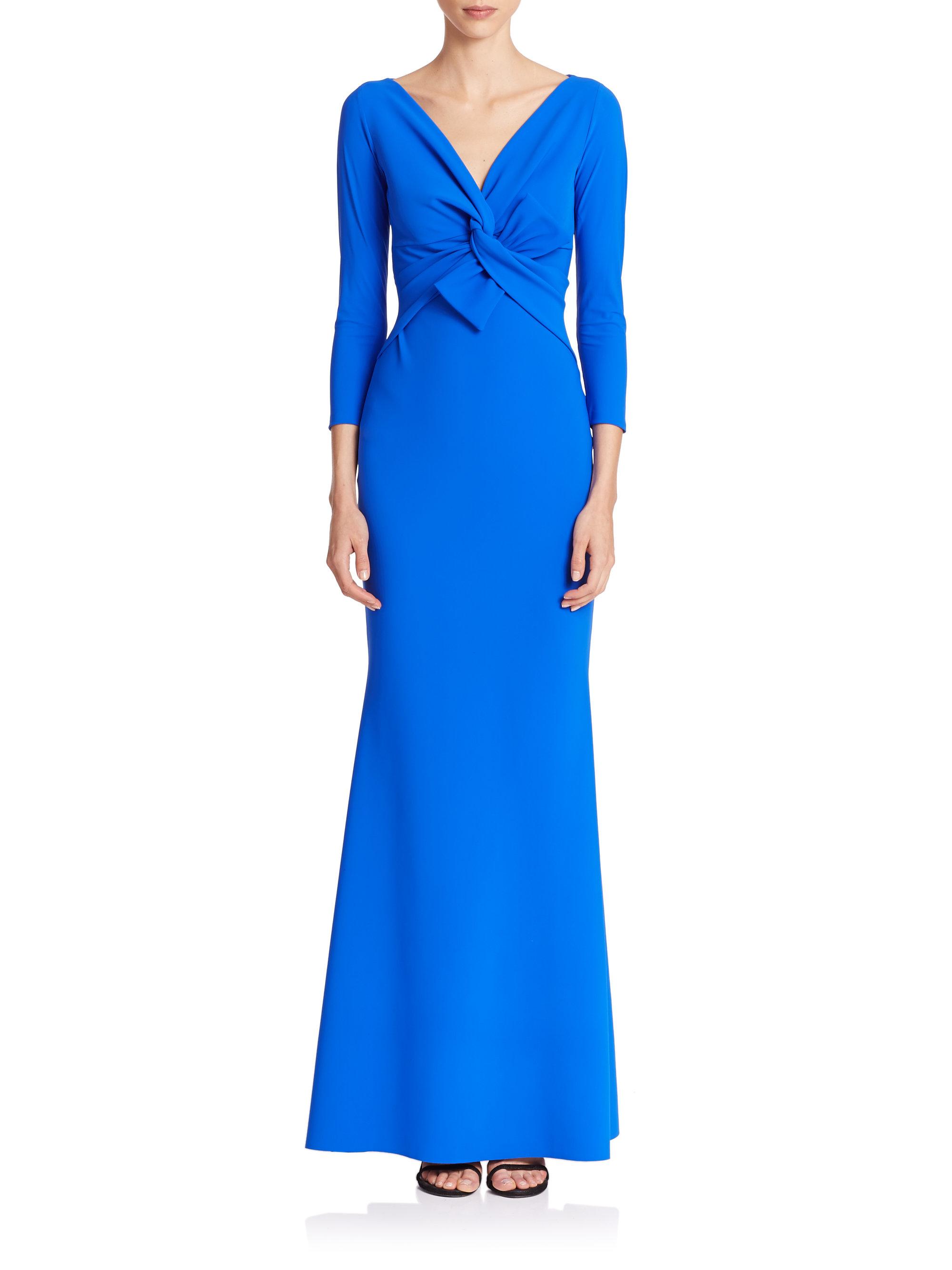 lyst la petite robe di chiara boni twist bow gown in blue. Black Bedroom Furniture Sets. Home Design Ideas