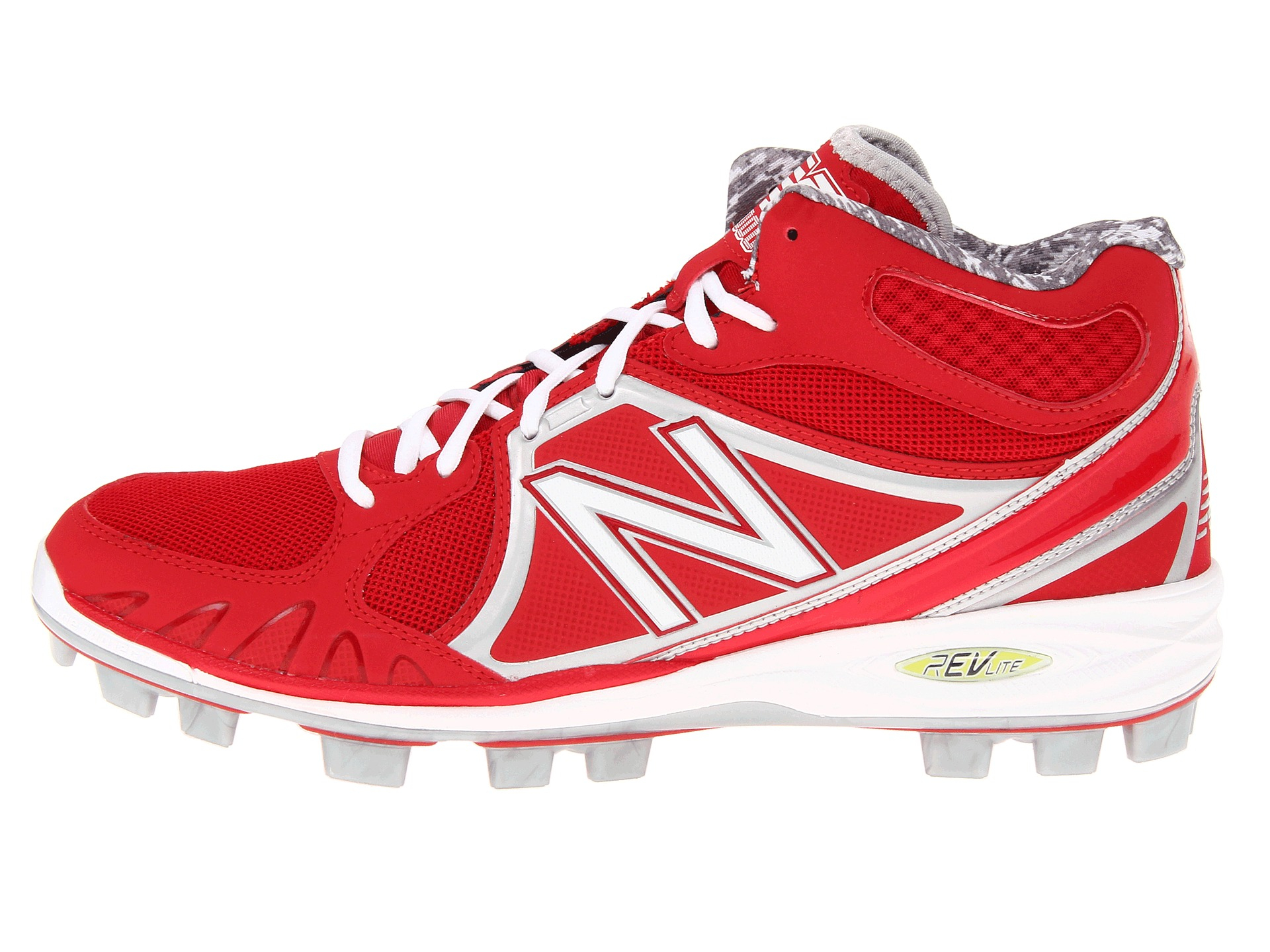 New Balance Mid Cut 4040v3 Tpu Molded Cleat In Red For Men
