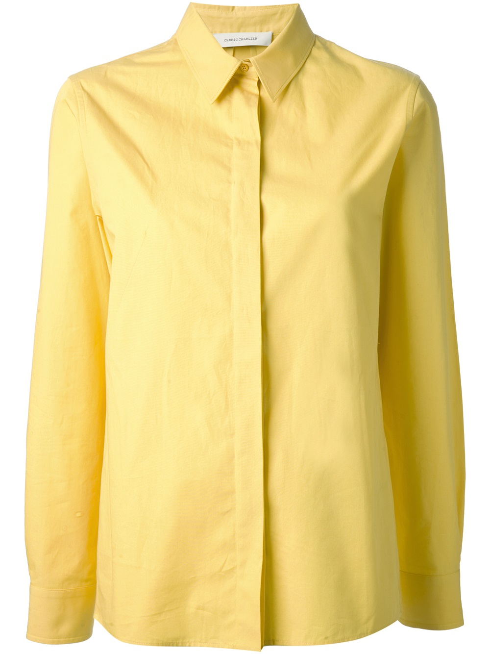 Lyst Cedric Charlier Collared Shirt In Yellow