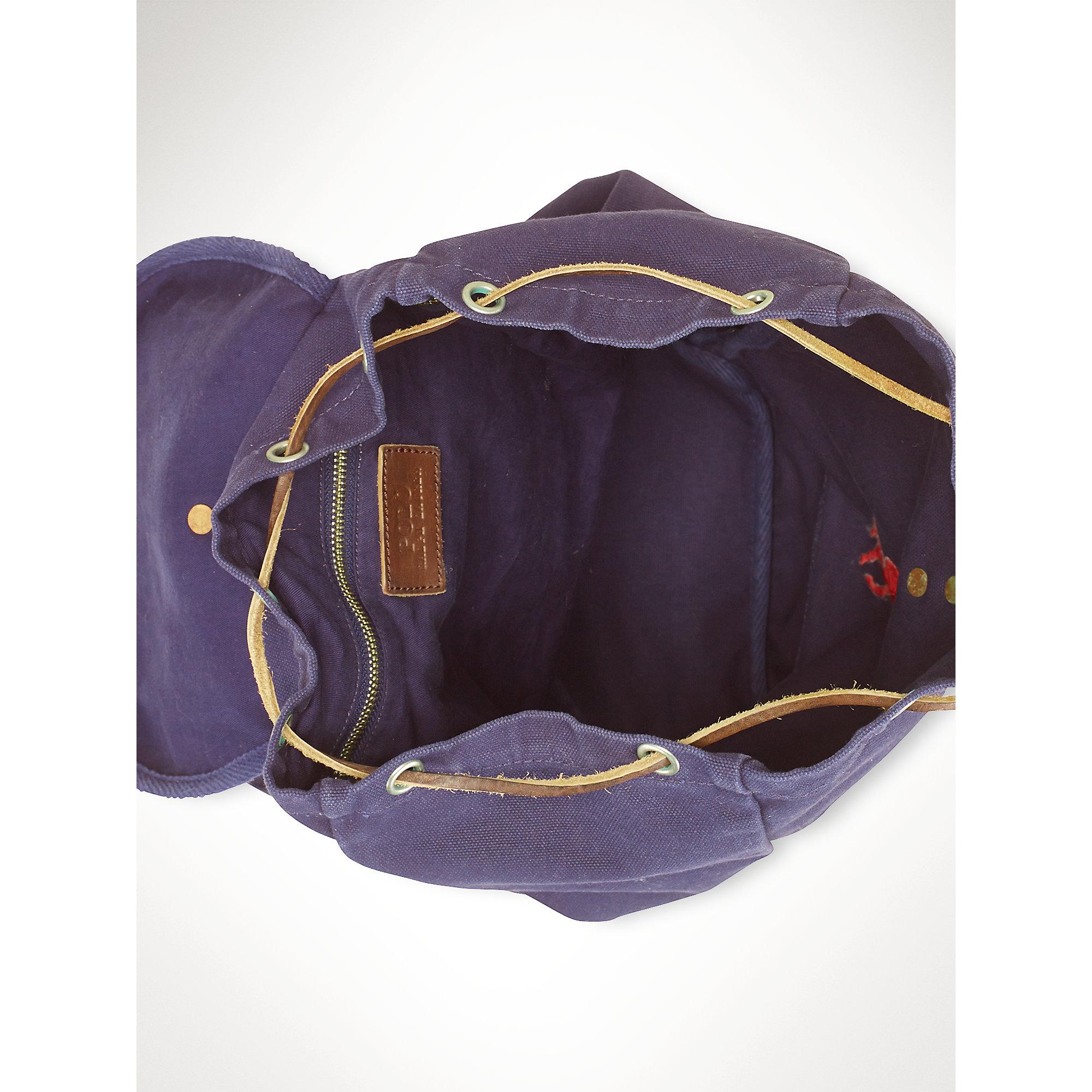 Ralph Lauren Mens Beach Towel: Polo Ralph Lauren Big Pony Backpack In Blue For Men