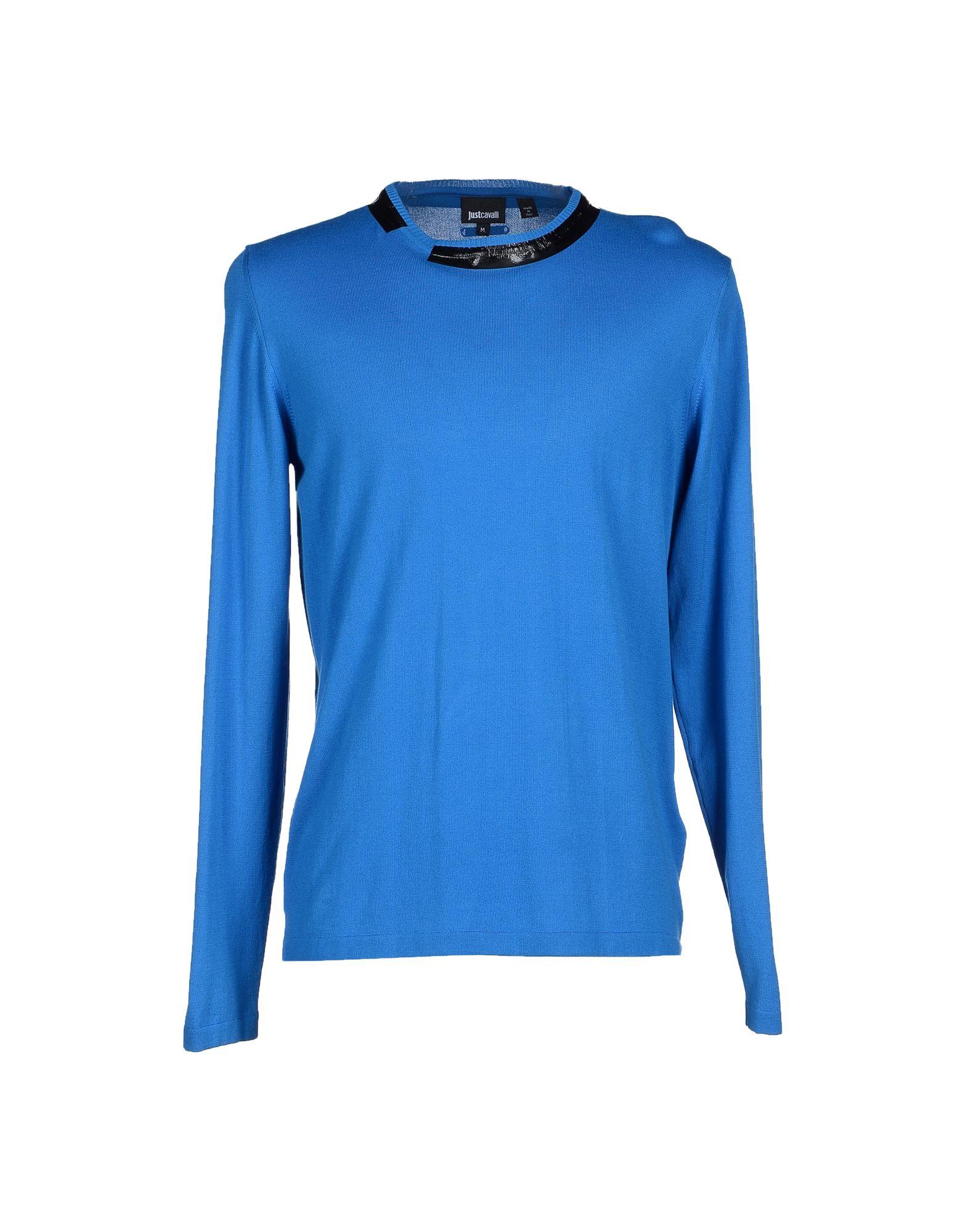 just cavalli sweater in blue for men lyst. Black Bedroom Furniture Sets. Home Design Ideas