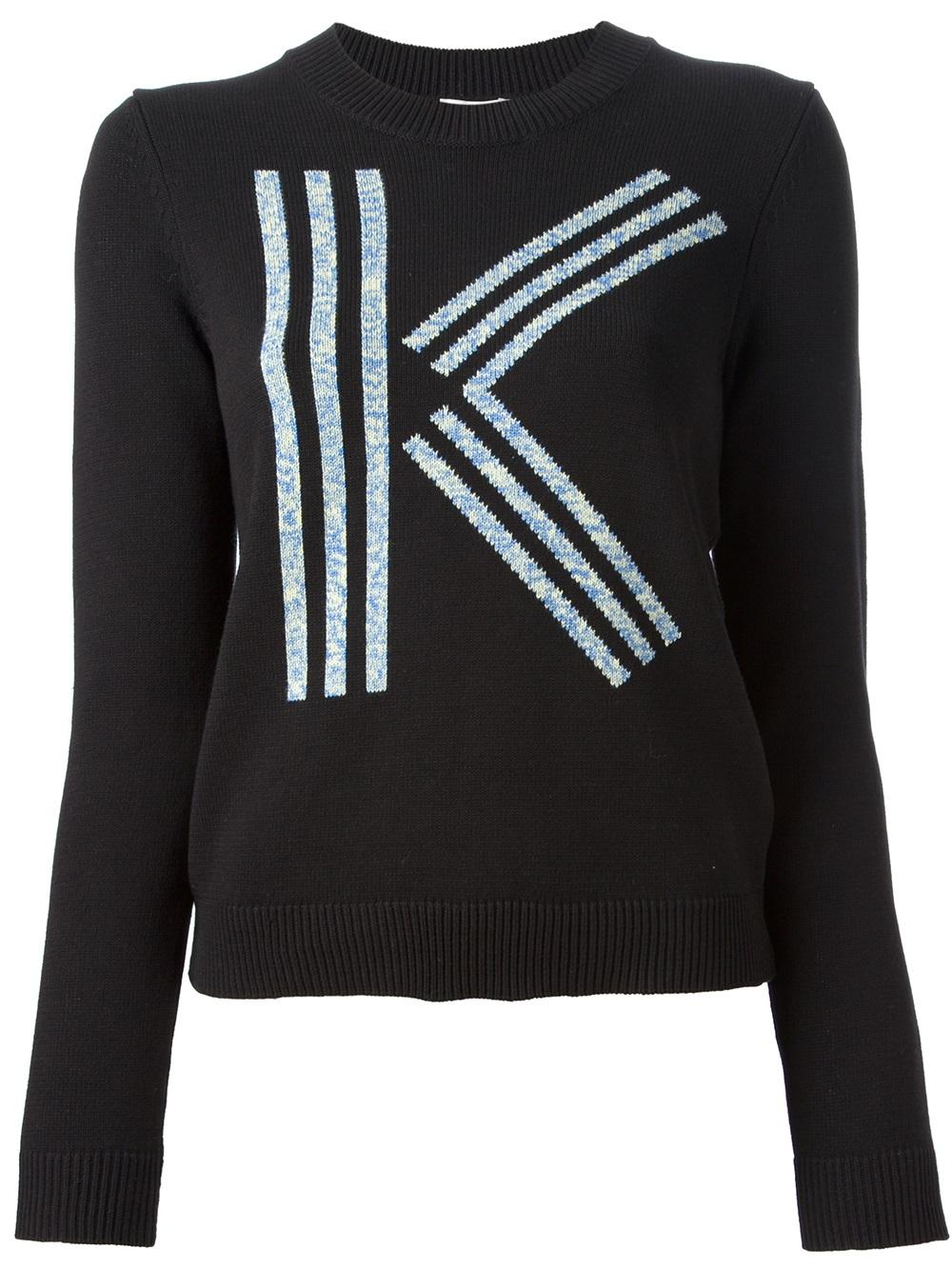 kenzo logo sweater in black lyst. Black Bedroom Furniture Sets. Home Design Ideas