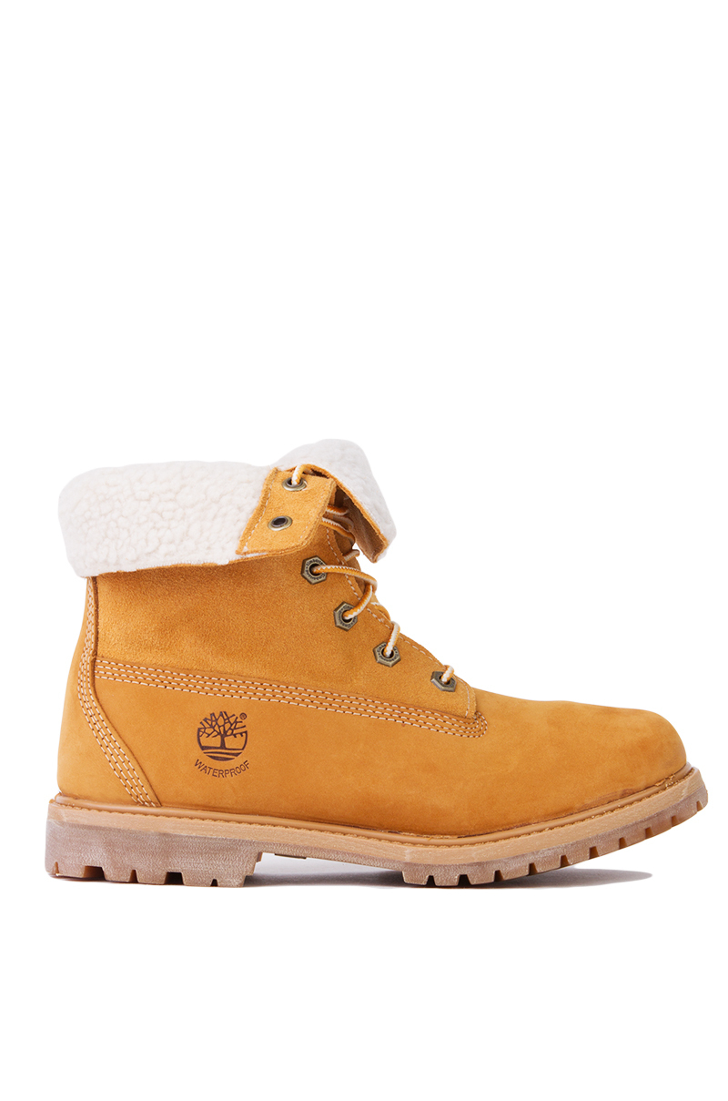 71735034184 Timberland Authentic Teddy Fleece Fold Down Boots In Wheat in Yellow ...