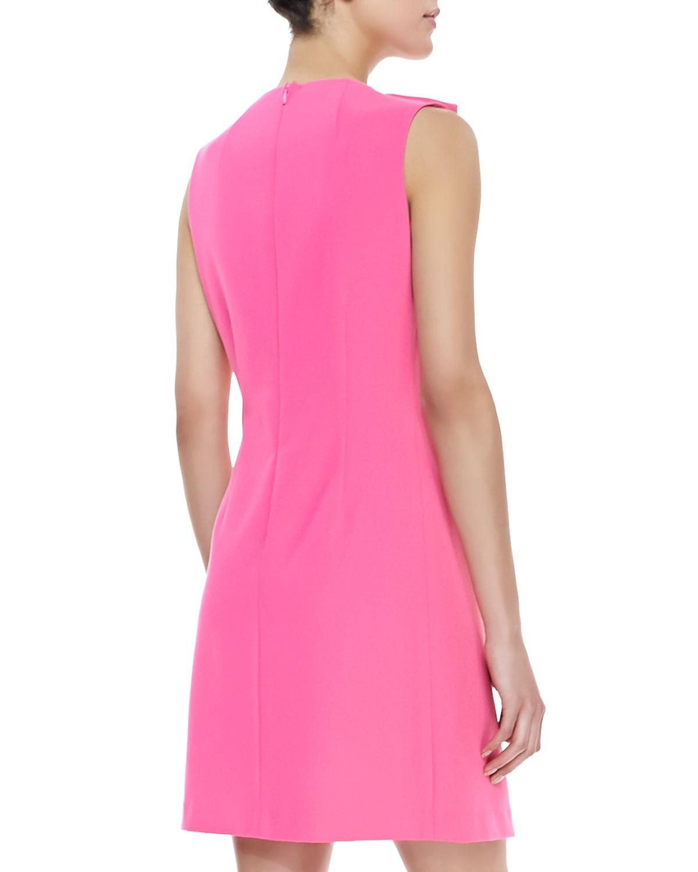 Shoshanna Sleeveless Shift Dress in Pink   Lyst