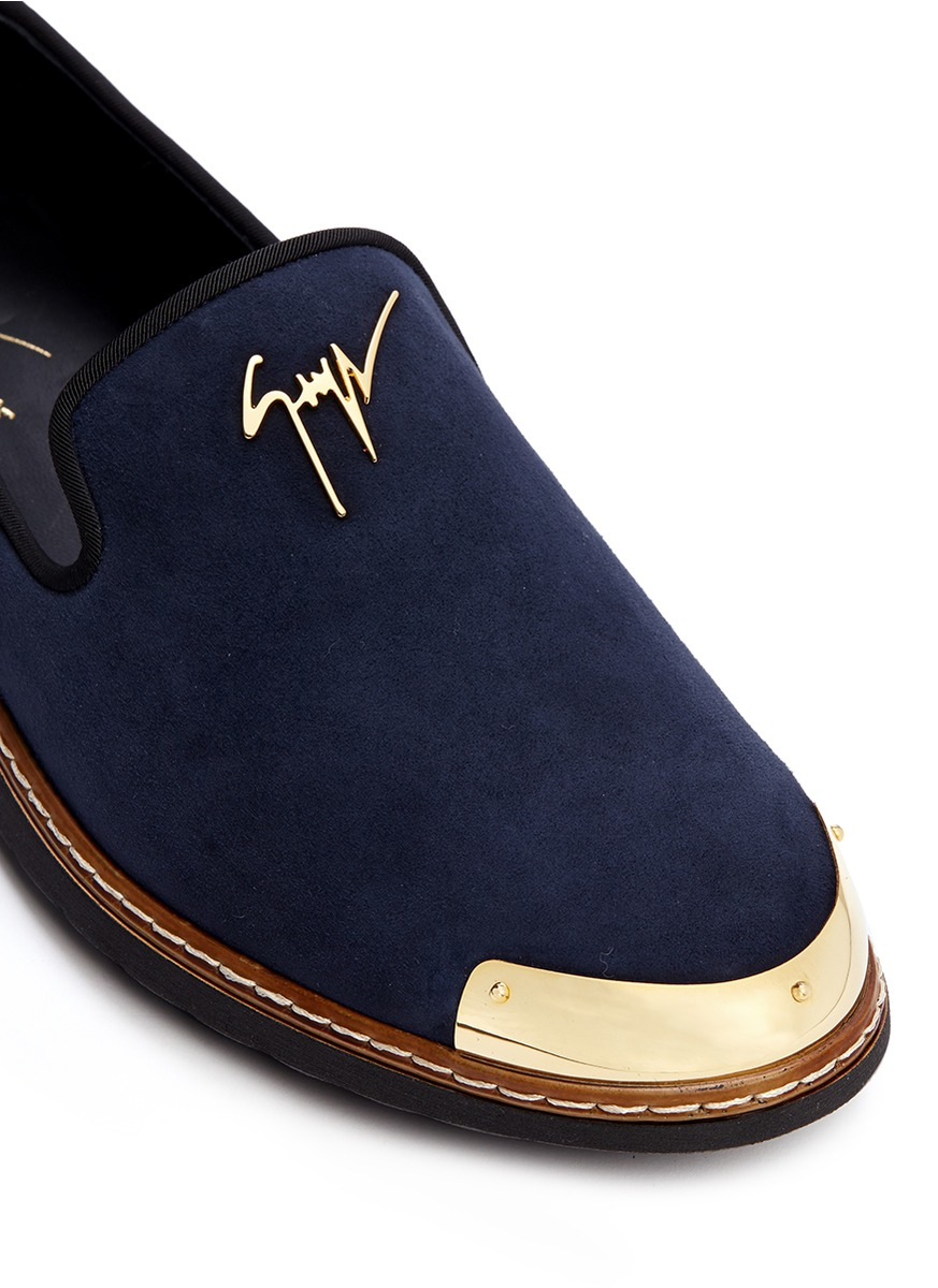 Giuseppe Zanotti Suede Kevin Loafers