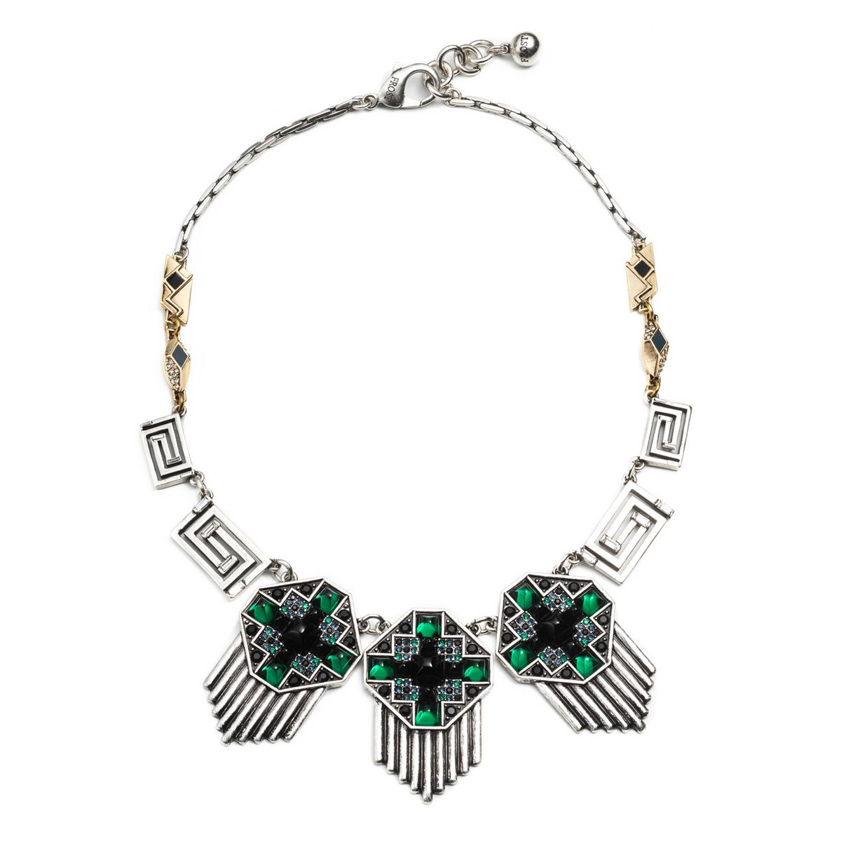 lulu vaulted necklace in metallic lyst