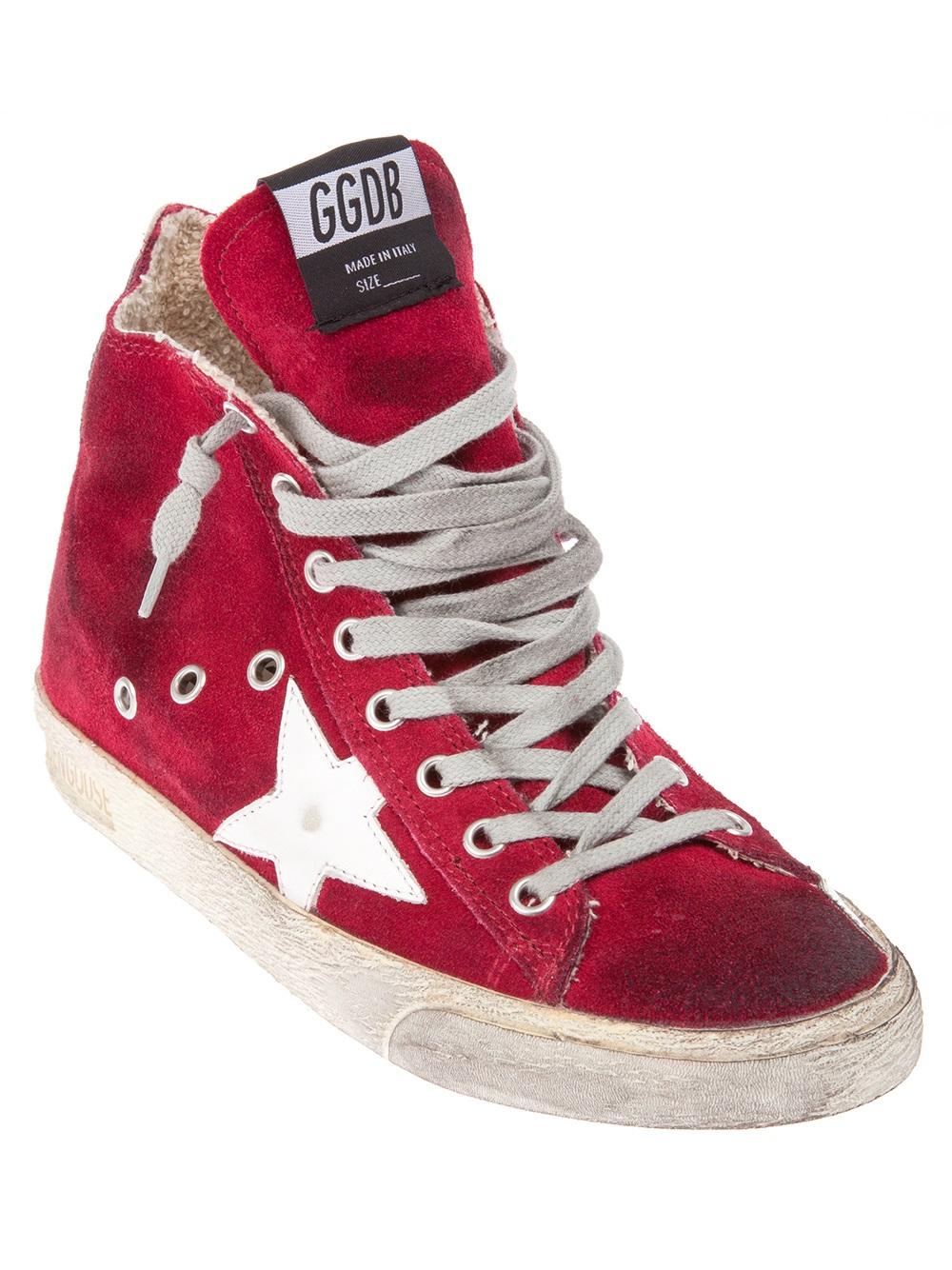 Lyst - Golden Goose Deluxe Brand Francy Hitop Sneakers in Red
