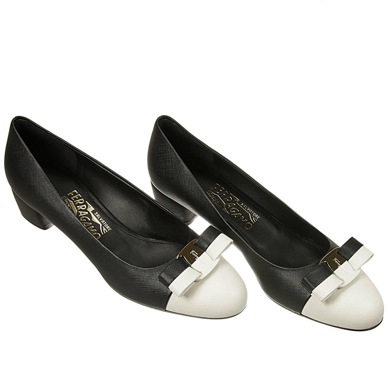 ferragamo flat shoes in black lyst