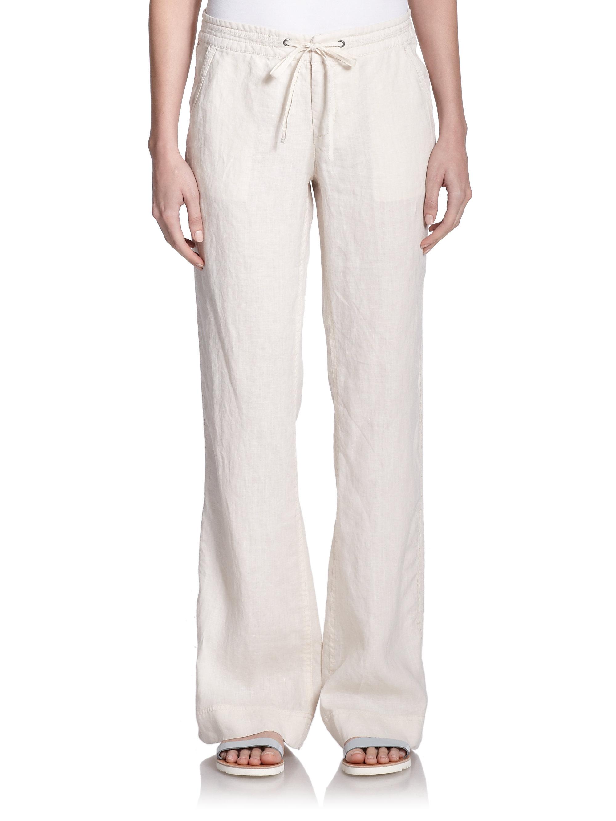 joie wide leg linen pants - Pi Pants