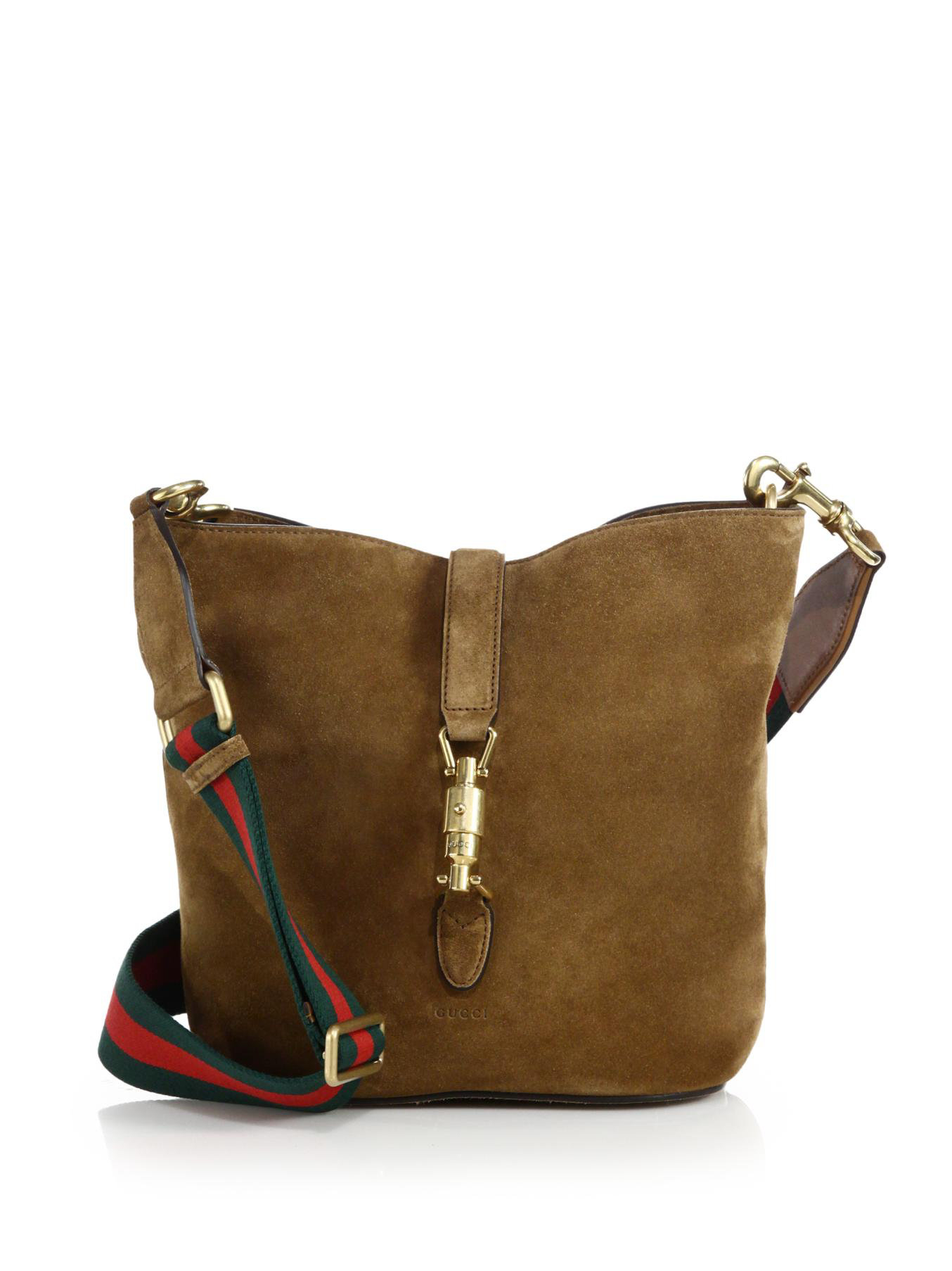 4c448fc47ccd Fantastic Lyst - Gucci Jackie Soft Suede Bucket Bag in Brown JN28