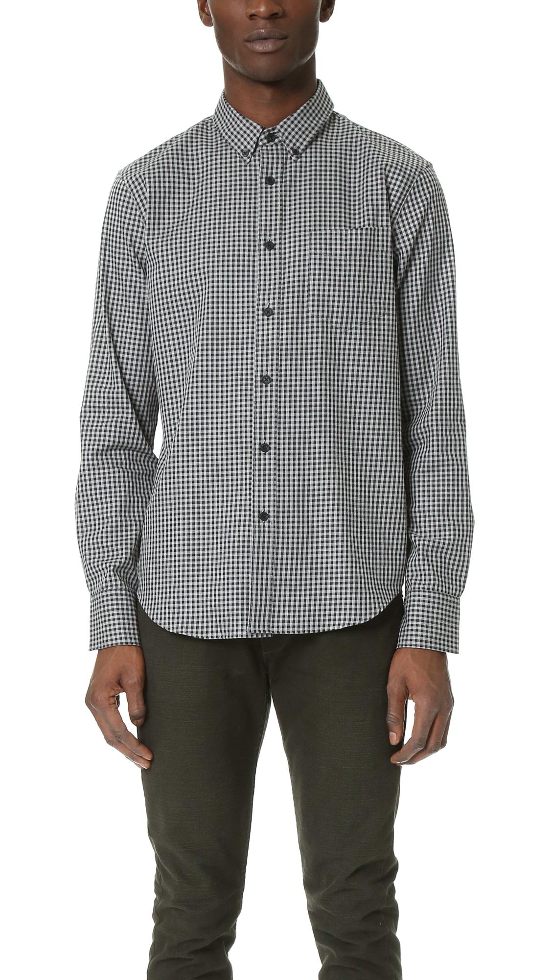 Rag bone yokohama shirt in gray for men lyst for Rag bone shirt