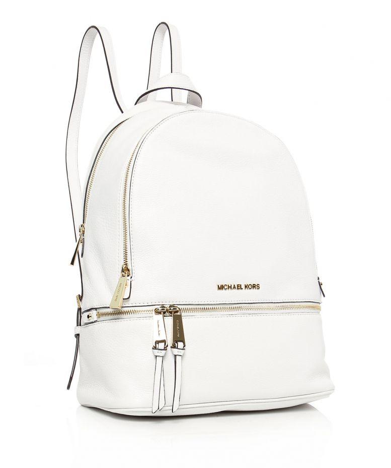 3ad664f1c77b Lyst - MICHAEL Michael Kors Rhea Large Backpack in White