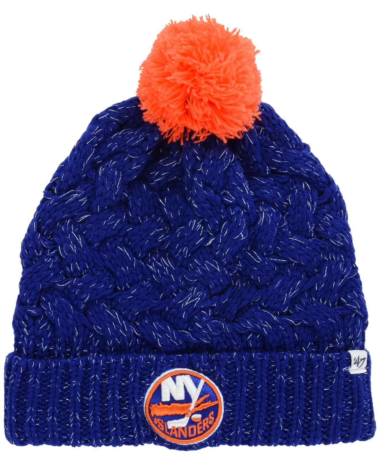 3489f94d8 47 Brand Women's New York Islanders Fiona Pom Knit Hat in Blue - Lyst