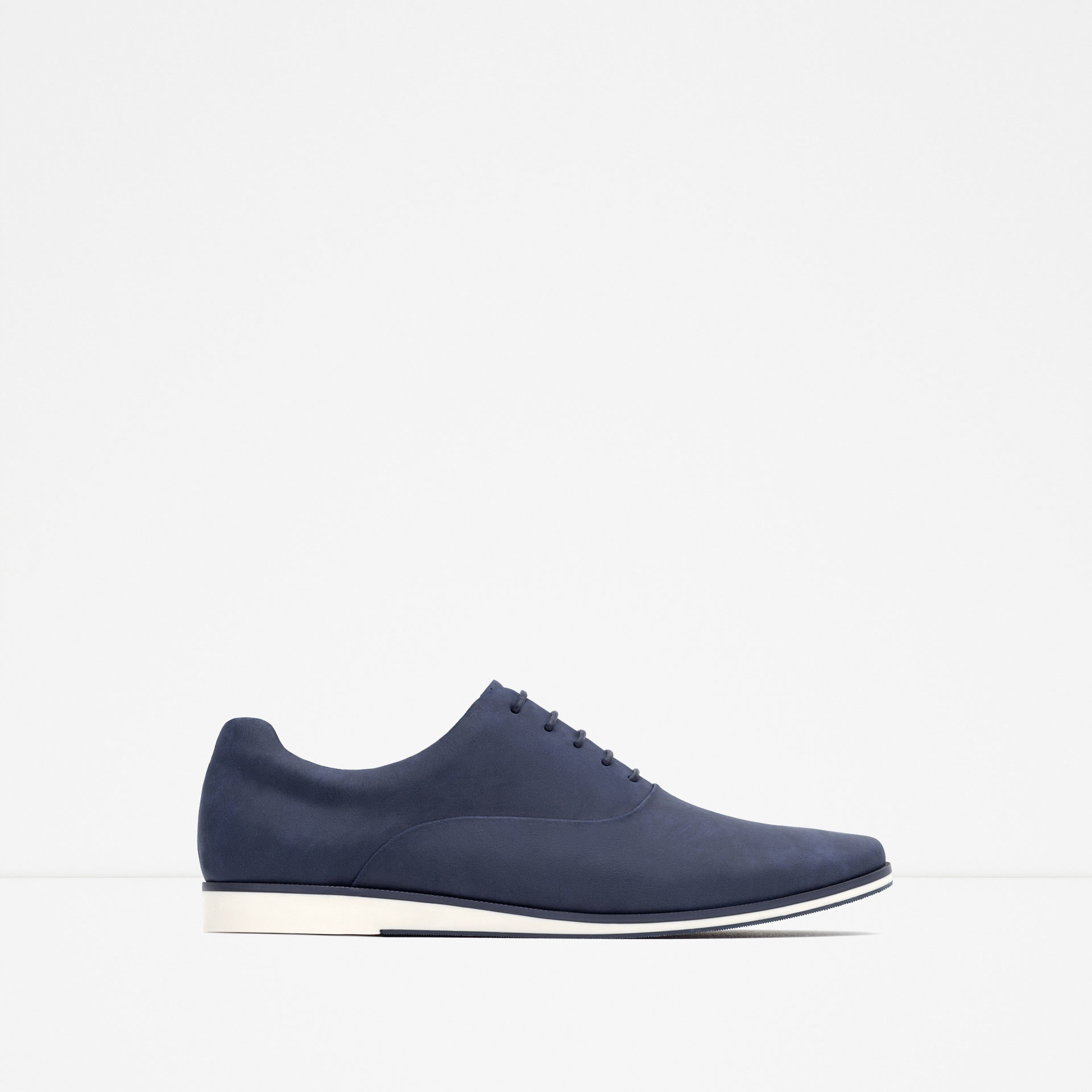 zara oxford style casual shoes for lyst