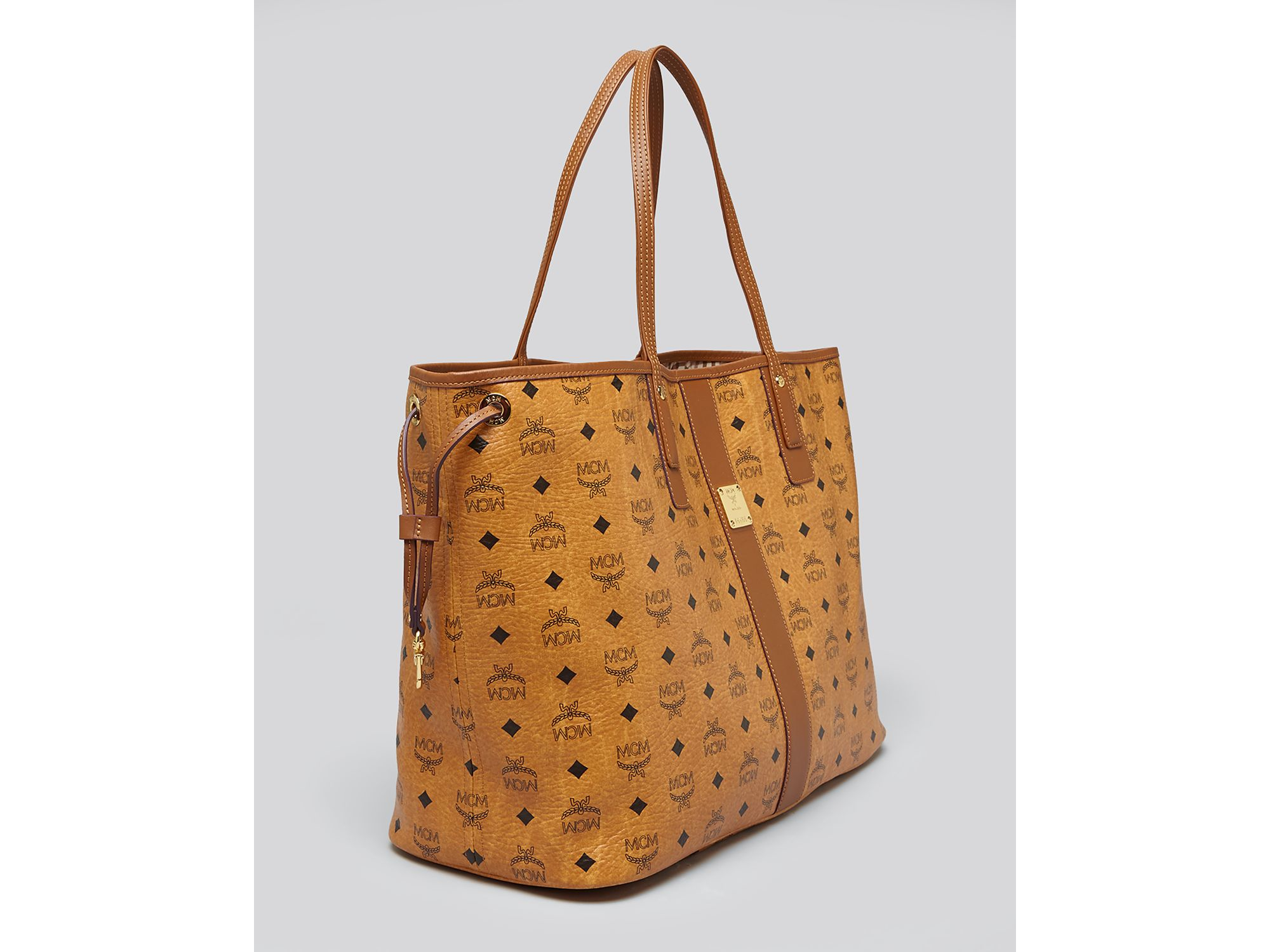 mcm tote heritage liz reversible shopper large in brown lyst. Black Bedroom Furniture Sets. Home Design Ideas