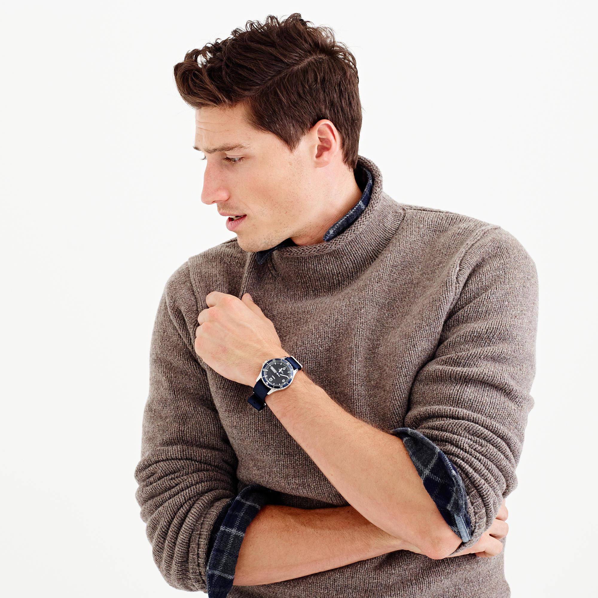 Lyst Jcrew Lambswool Rollneck Sweater In Gray For Men