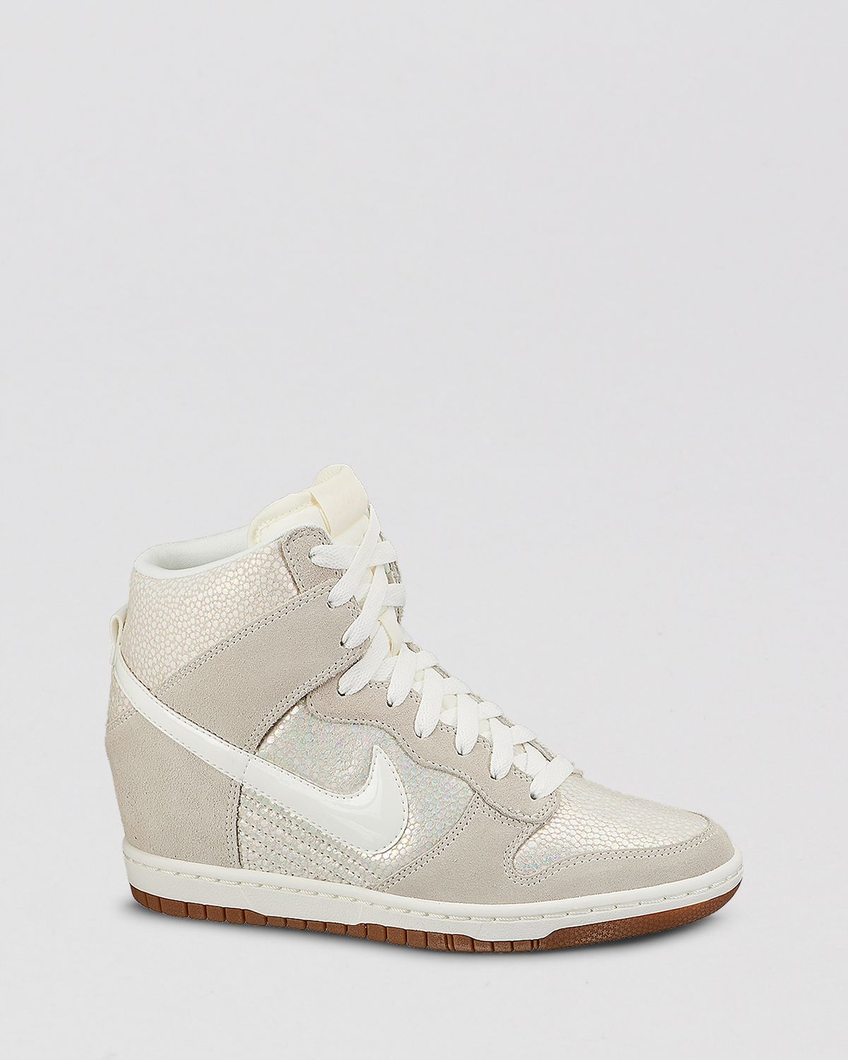 Lyst - Nike Lace Up High Top Wedge Sneakers - Women'S Dunk ...