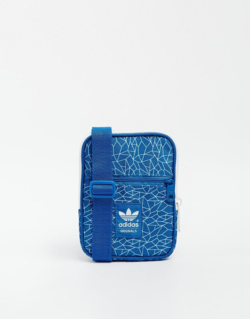 Lyst - adidas Originals Festival Crossbody Bag In Blue in Blue 54079fa8b8a7a