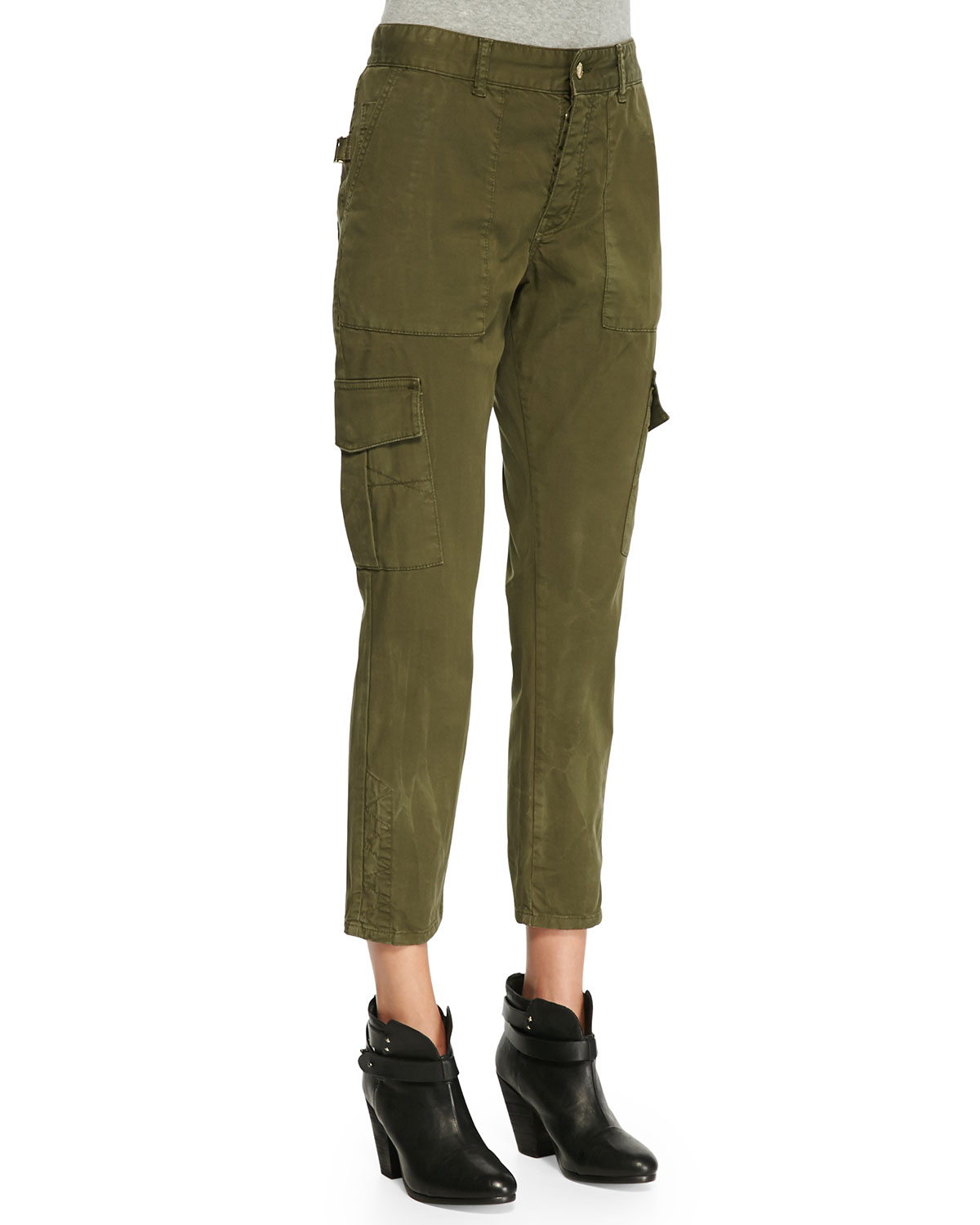 Luxury Per Se Olive Cropped Cargo Pants  Women  Zulily