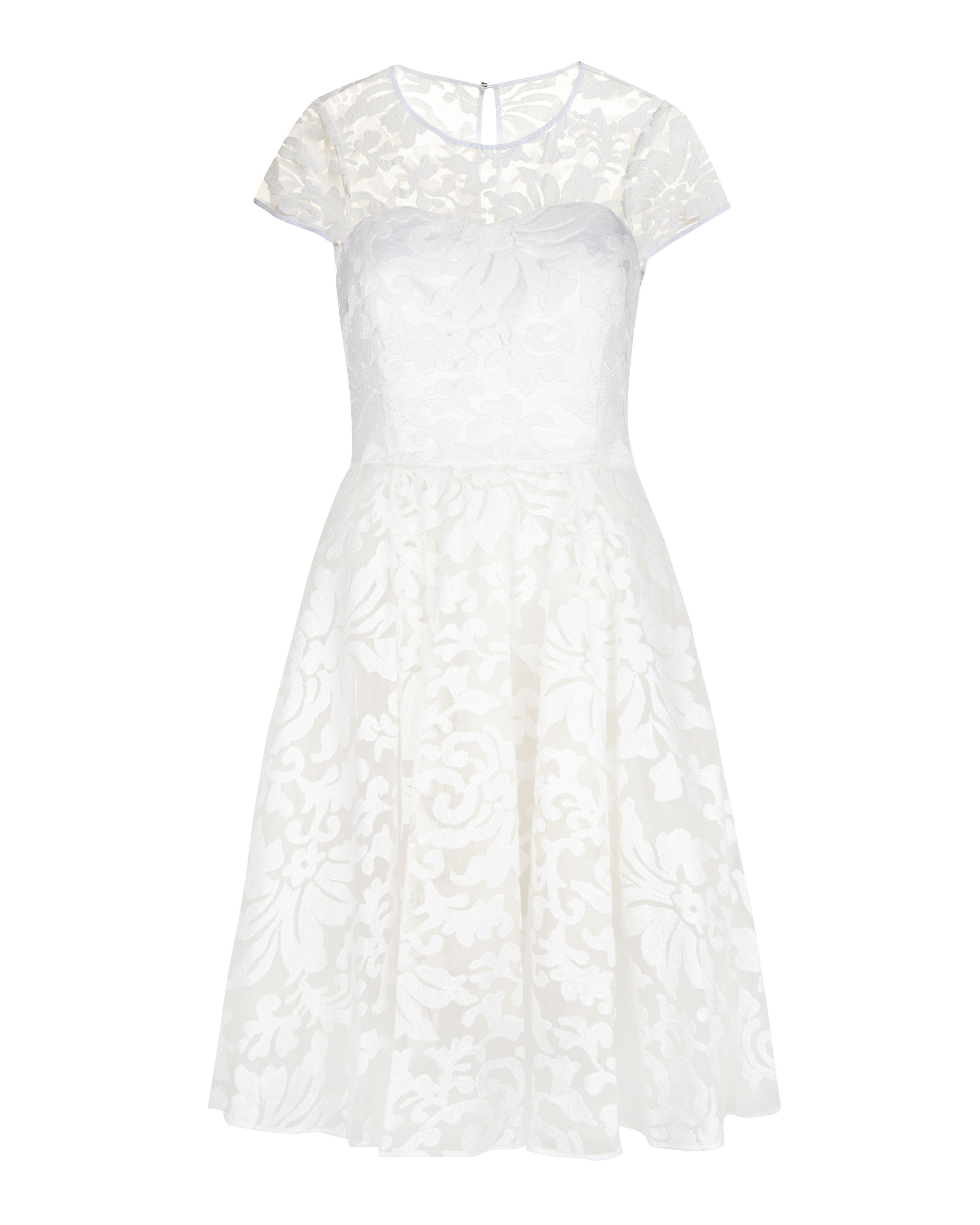 Ted Baker Caree Sheer Floral Dress In White Lyst