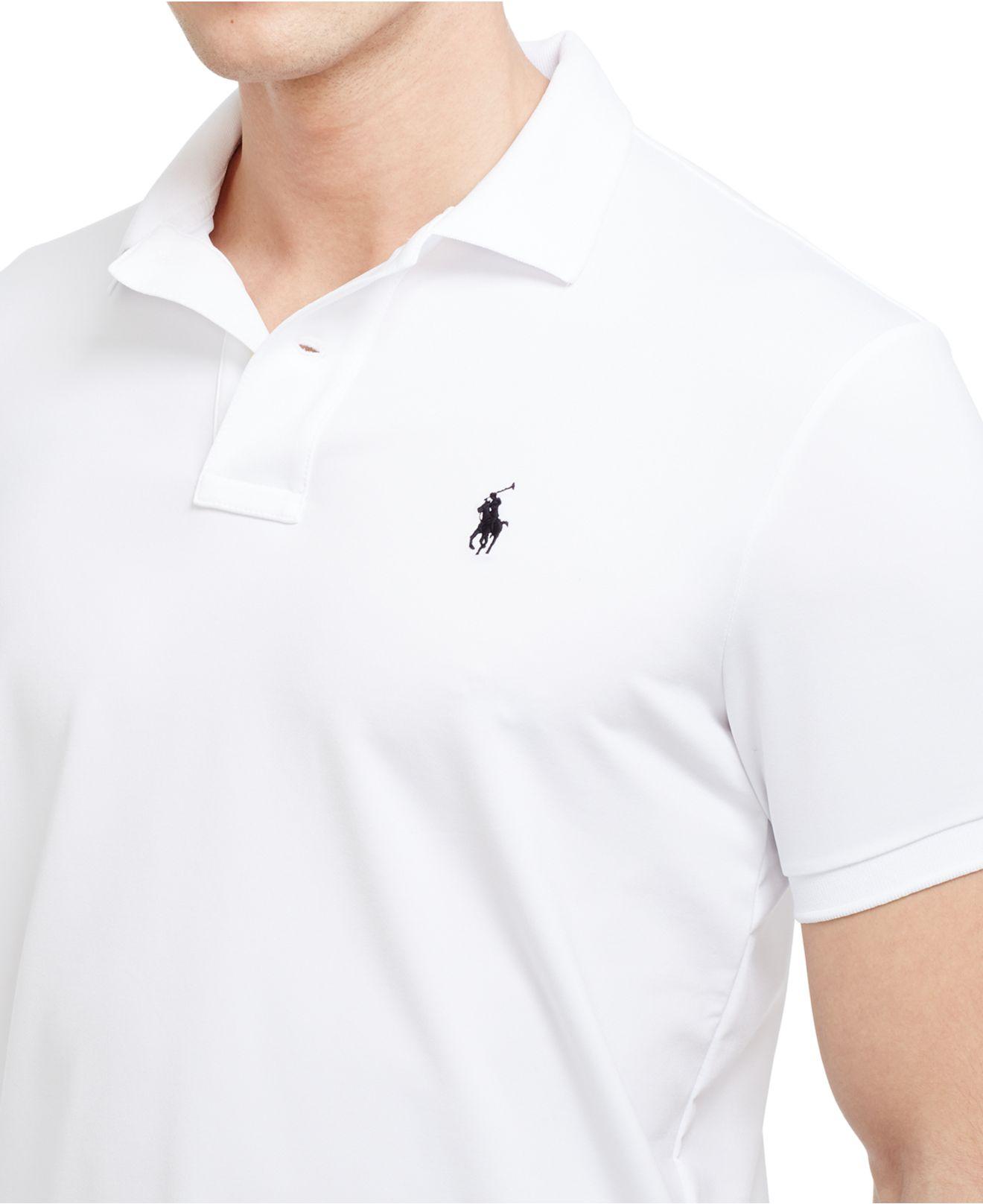 Lyst Polo Ralph Lauren Performance Polo Shirt In White For Men