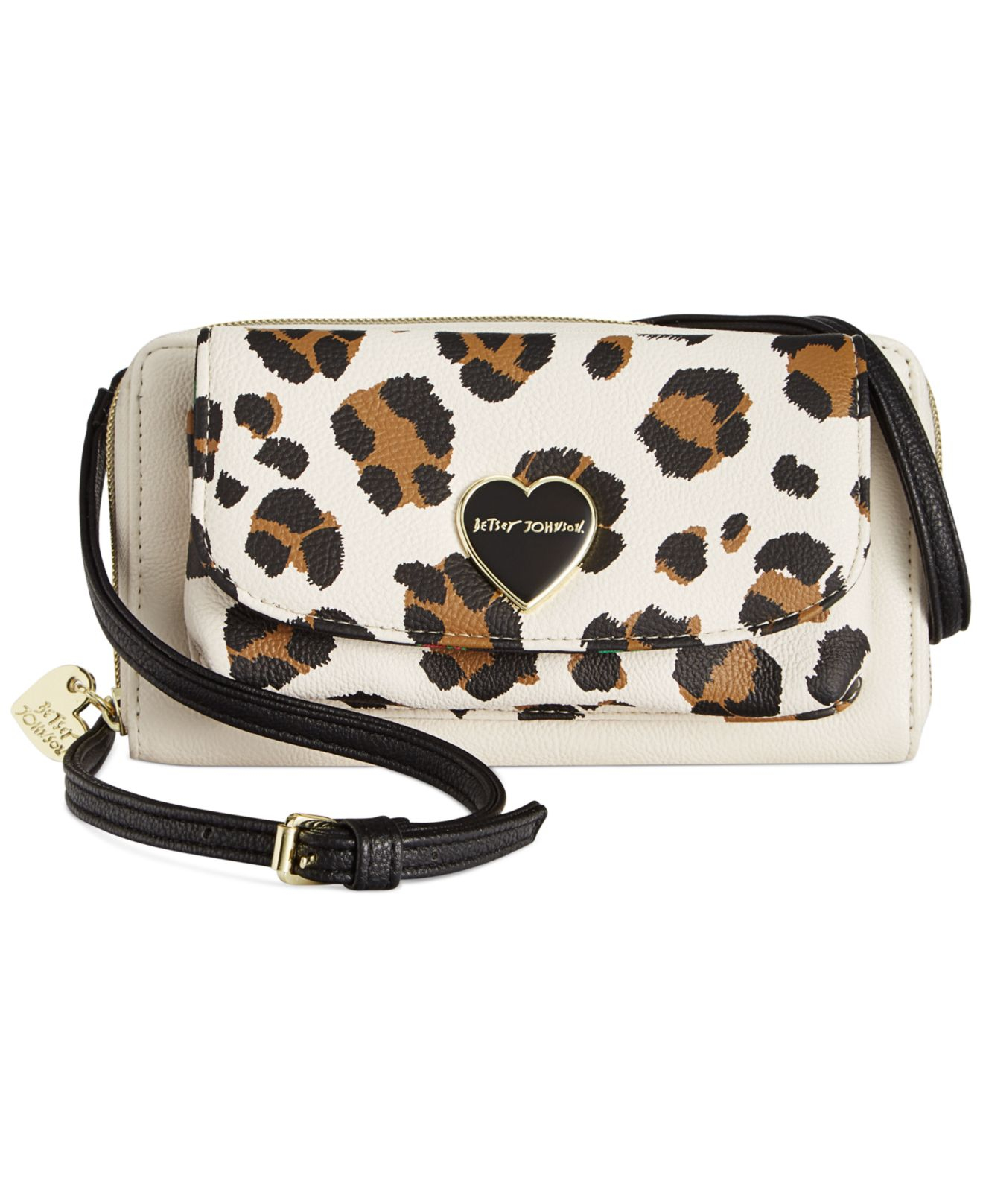 2585042540f0 Lyst - Betsey Johnson Macy's Exclusive Wallet On A String Crossbody