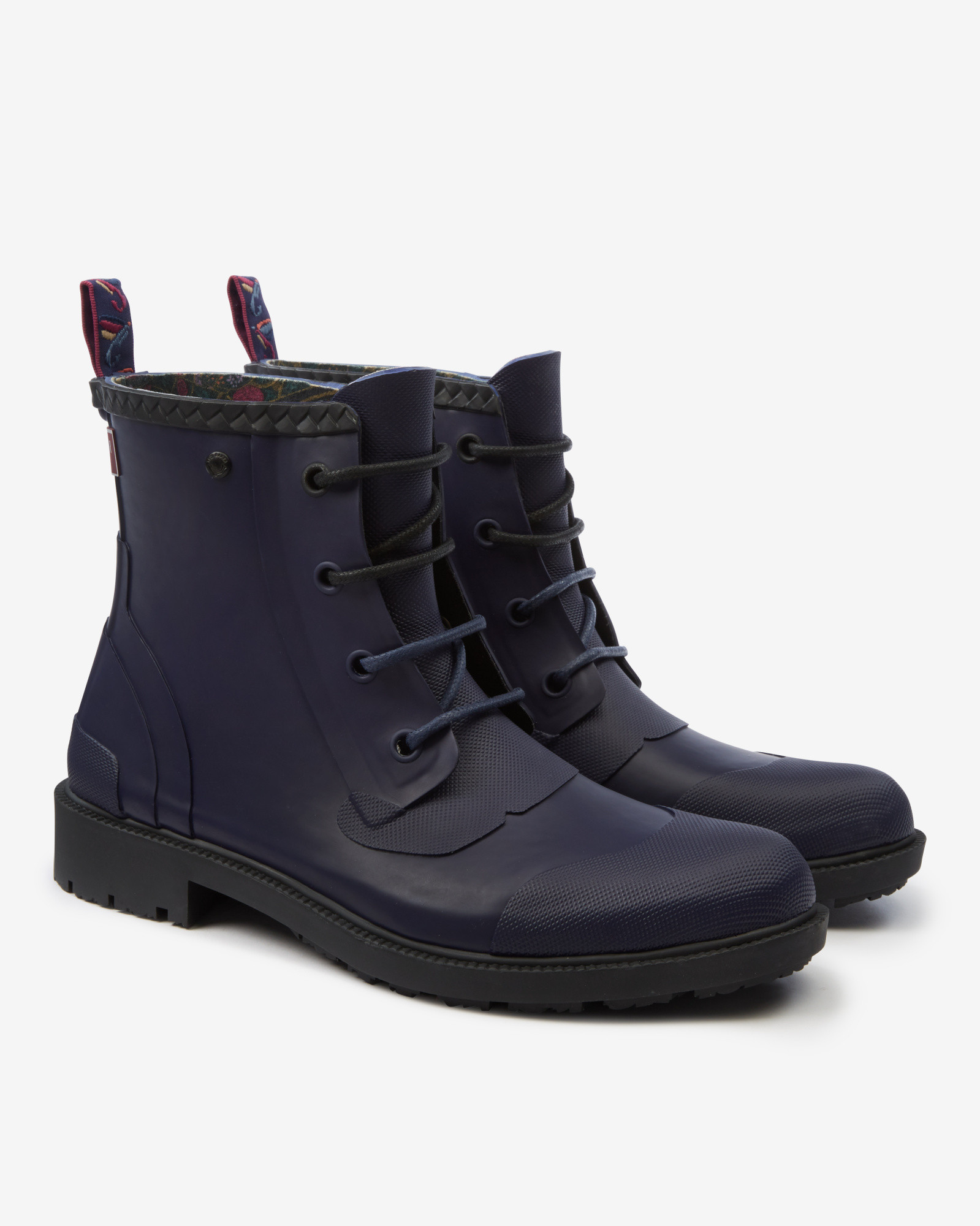 ted baker rubber ankle boots in blue for blue