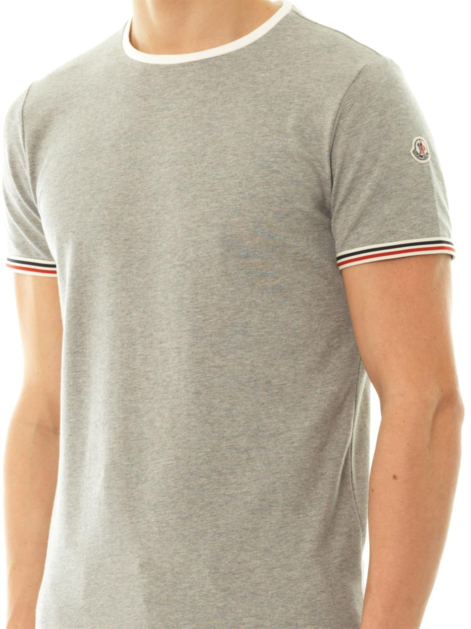 lyst moncler crewneck tshirt in gray for men. Black Bedroom Furniture Sets. Home Design Ideas