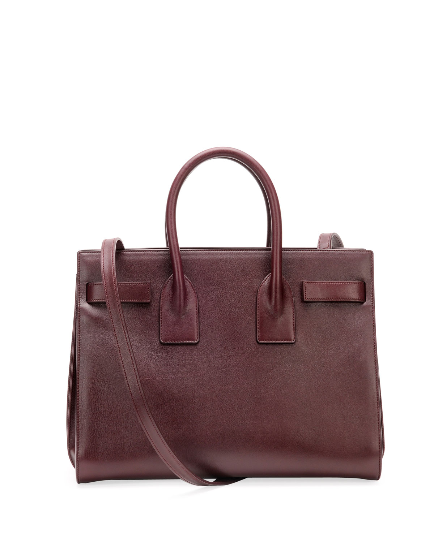 sac de jour small satchel bag bordeaux ysl shopping bag. Black Bedroom Furniture Sets. Home Design Ideas
