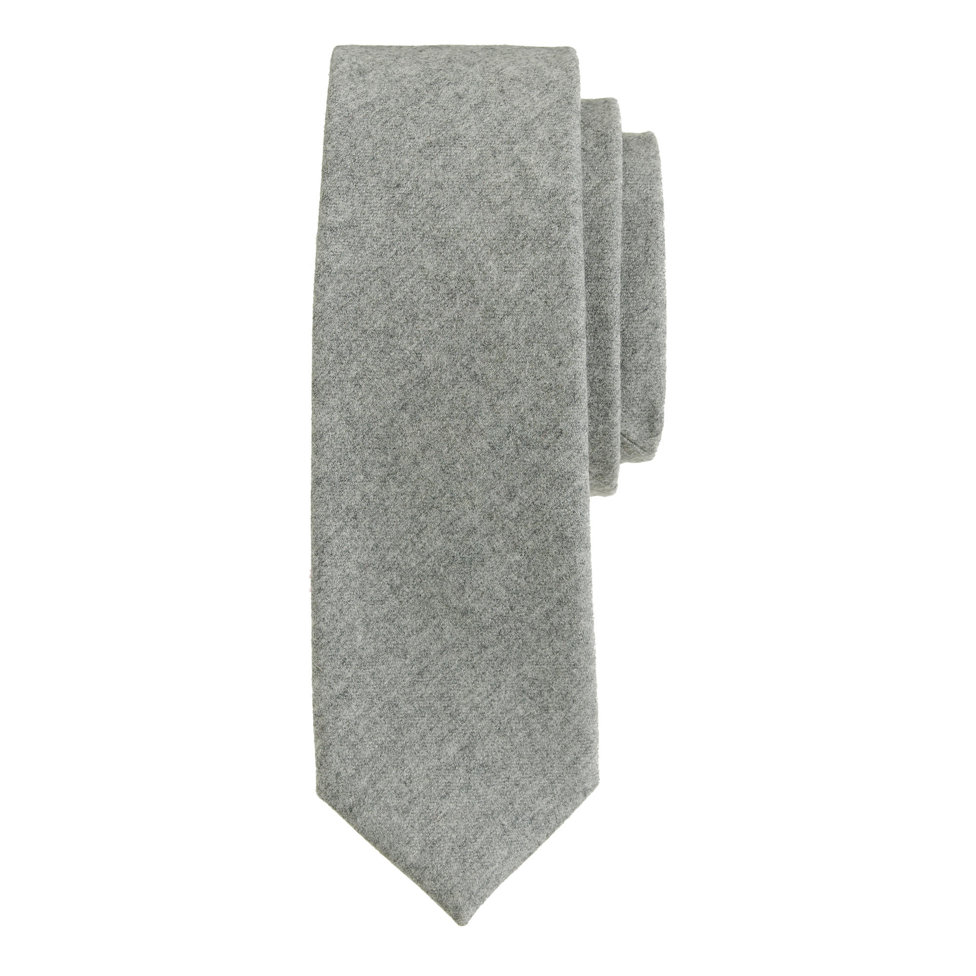 j crew italian wool tie in medium grey in gray for lyst