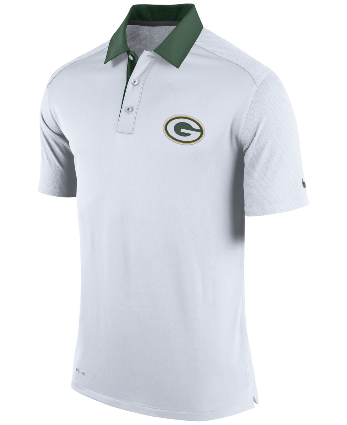 New green bay packers players performance nfl polo t shirt green