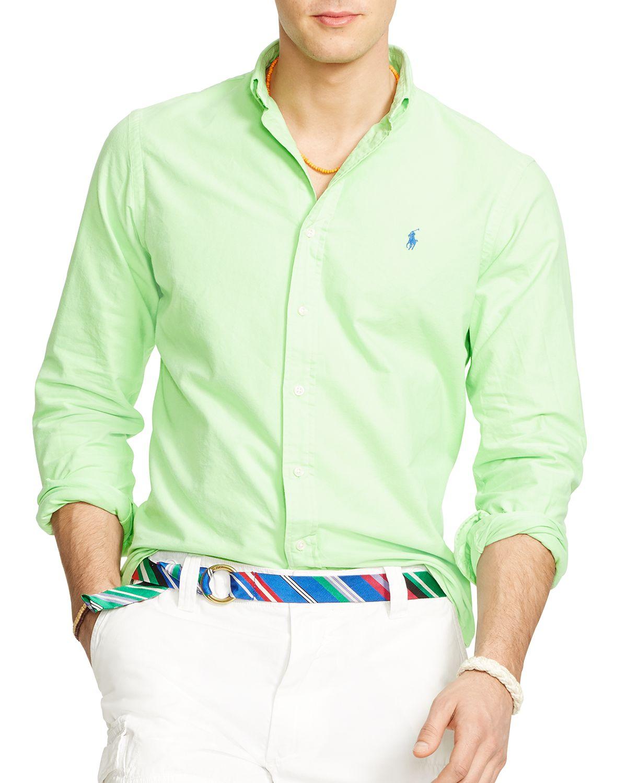 a8f8dfb25 ... greece lyst ralph lauren polo oxford button down shirt regular fit in  f6d0c 90a2d