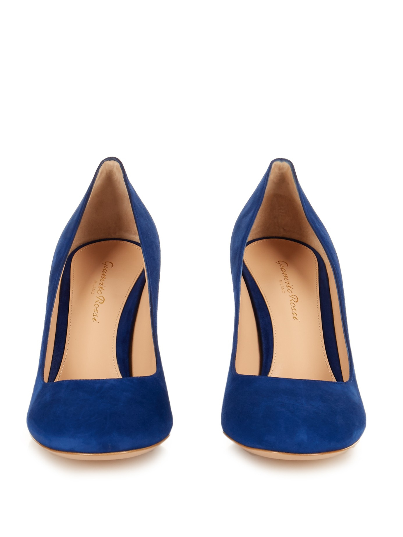 acd7695920c8 Lyst - Gianvito Rossi Linda Suede Pumps in Blue