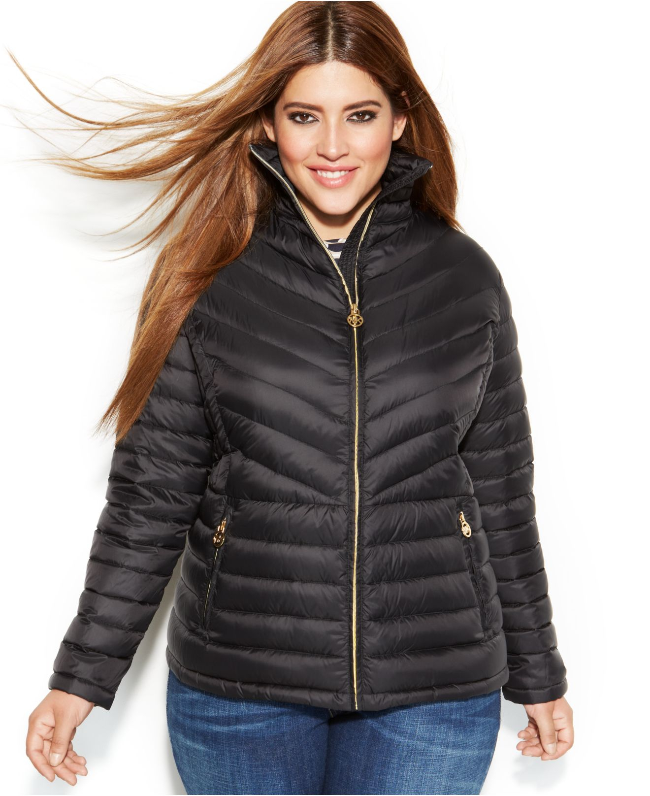 a99660afe0a77 Lyst - Michael Kors Michael Plus Size Packable Quilted Down Puffer ...