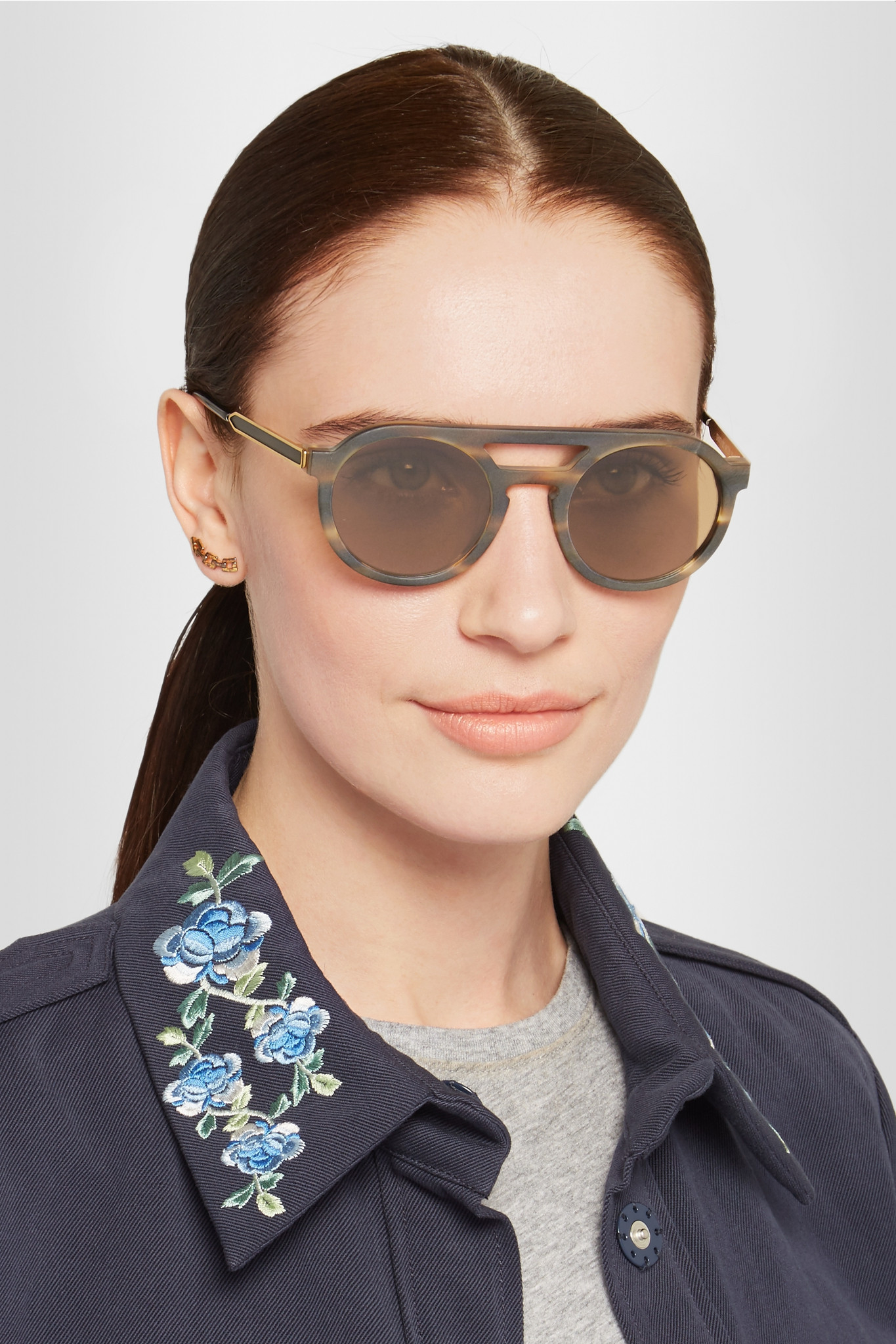 a736697b4e Lyst - Thierry Lasry Gravity Round-frame Matte-acetate Sunglasses in ...