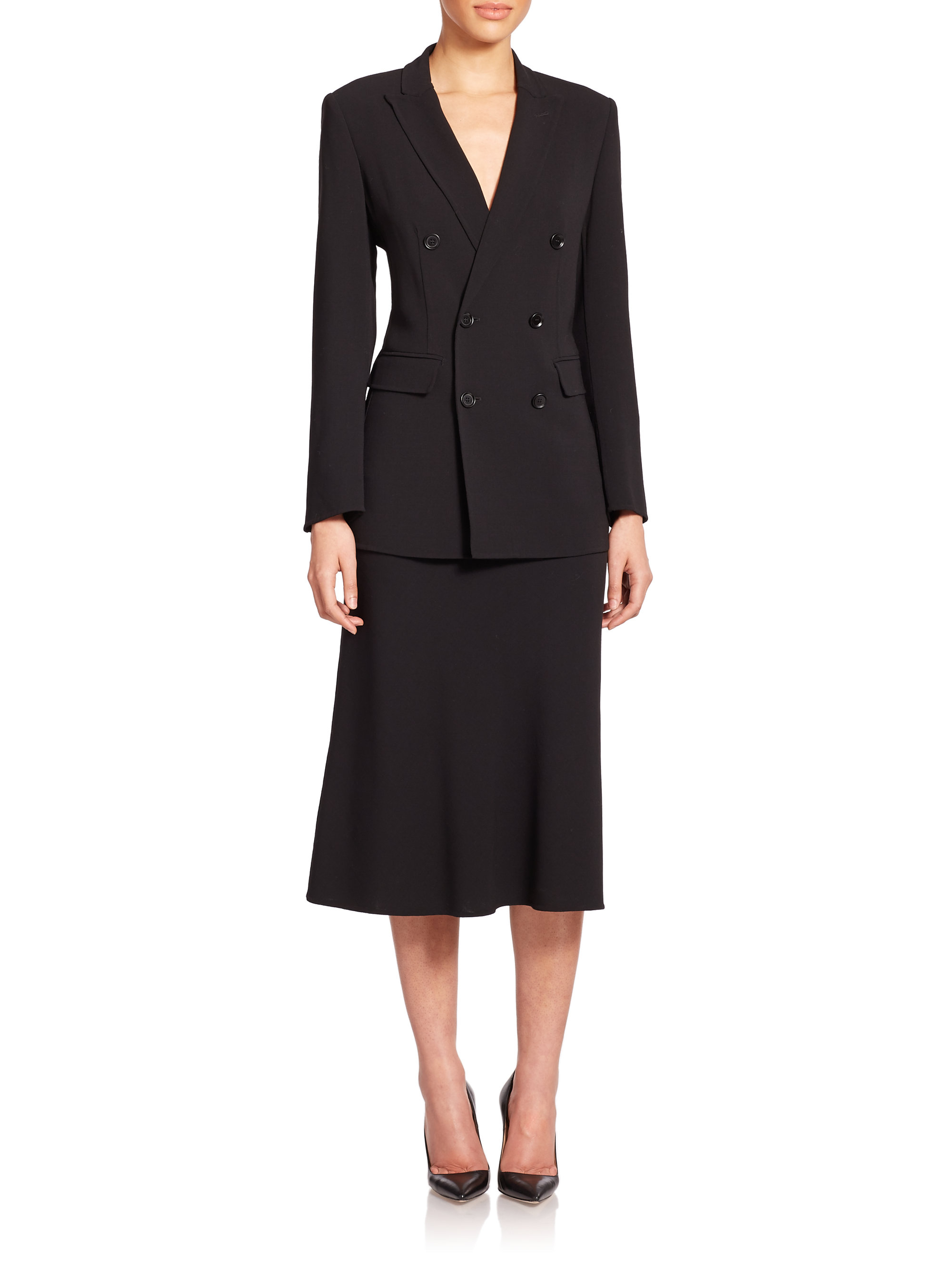 Lyst Max Mara Dolly Double Breasted Stretch Wool Jacket