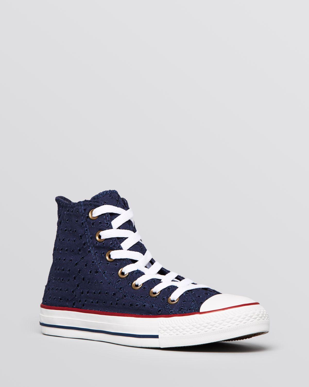 b223c19ec807 Lyst  Converse All Star white lace hi-tops