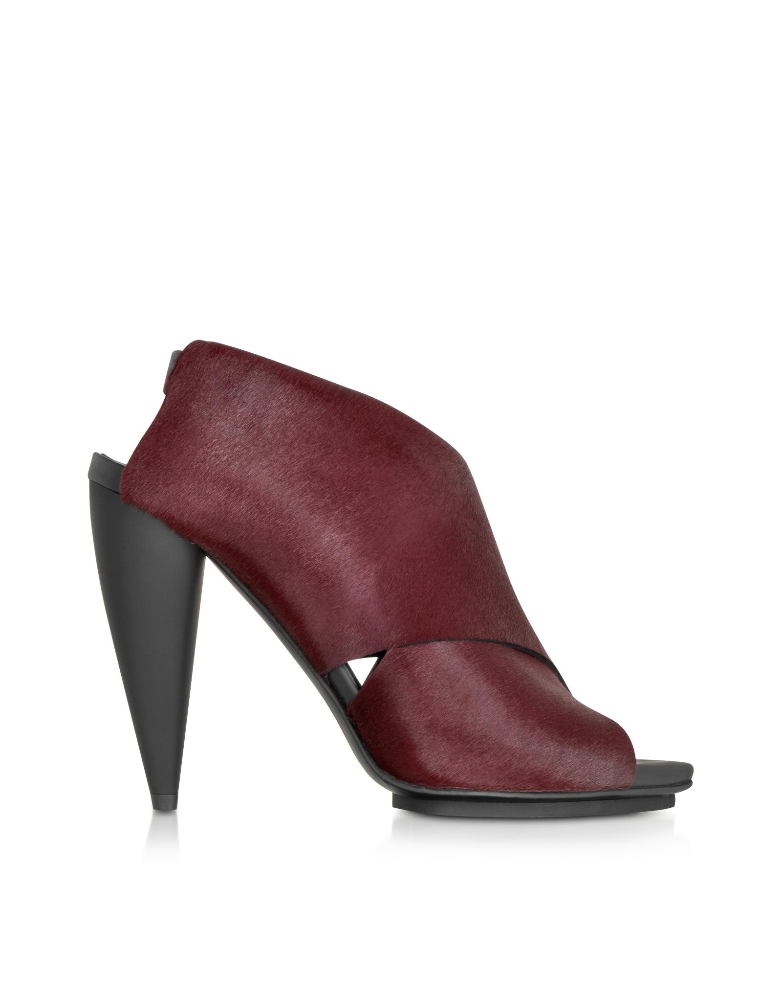 Proenza Schouler Shoes, Bordeaux Kebir Haircalf Slingback Sandal