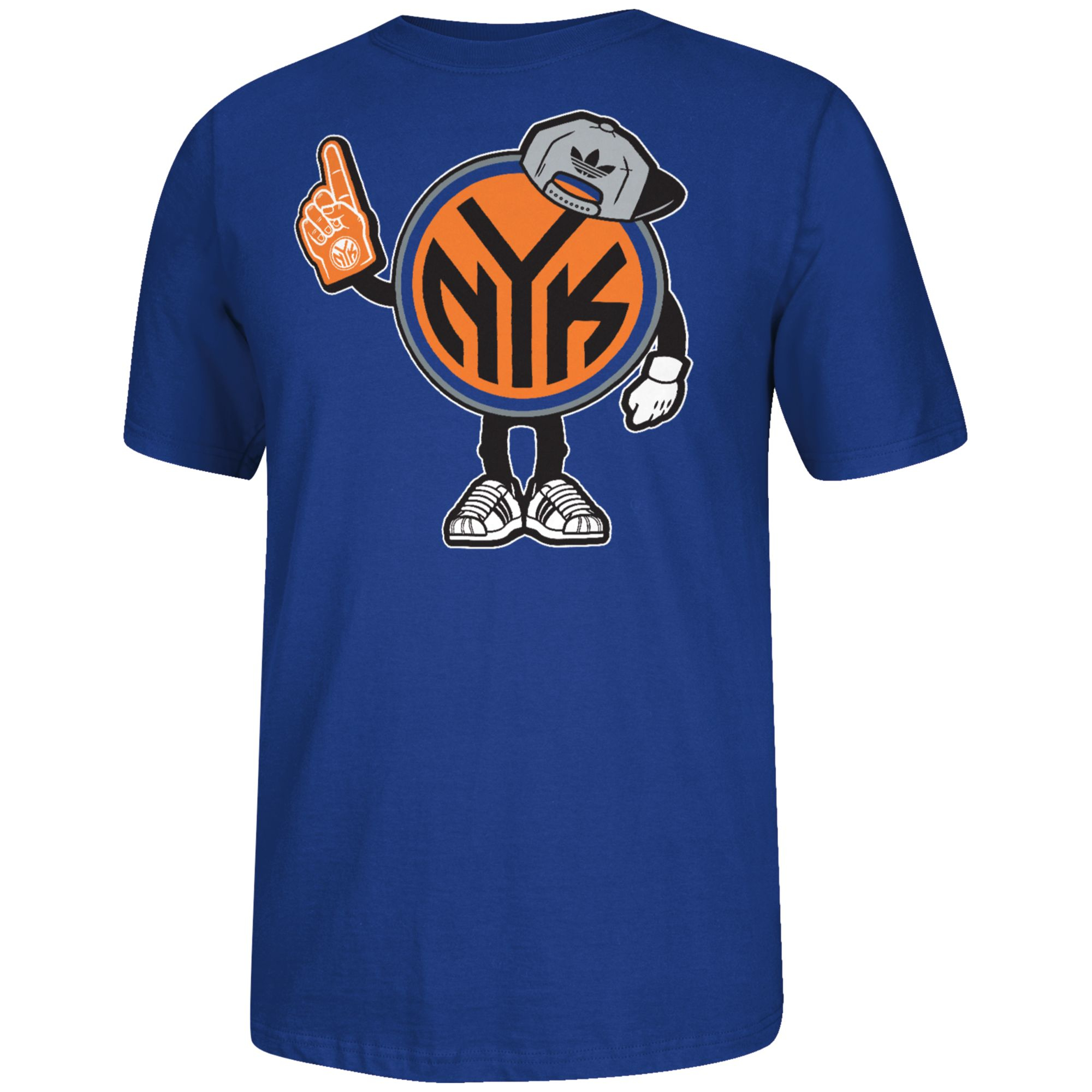Adidas Mens New York Knicks Little Dude Tshirt In Blue For