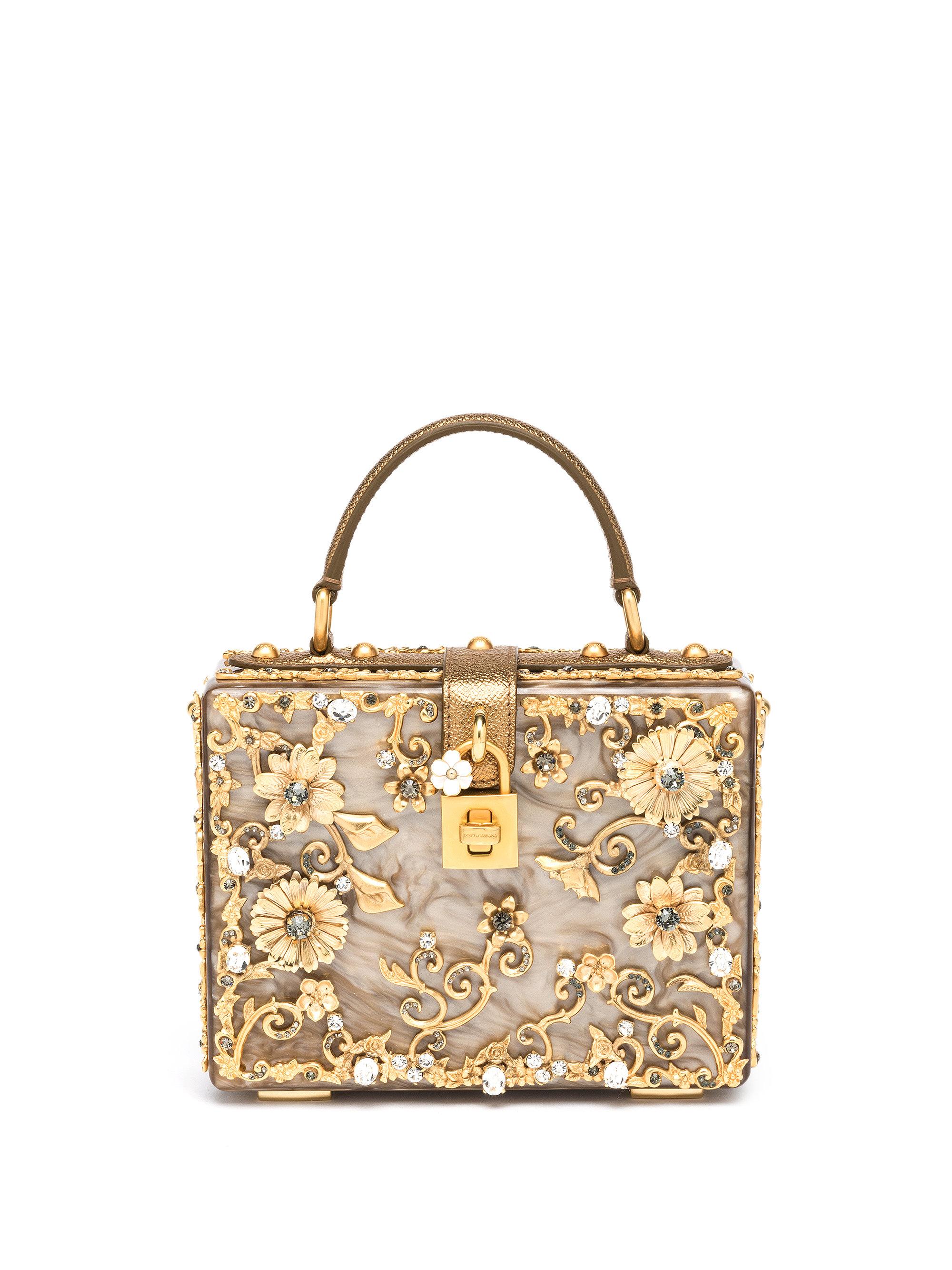 Lyst - Dolce   Gabbana Filigree Plexiglass Top-Handle Bag in Metallic 19c6d4b42a96c