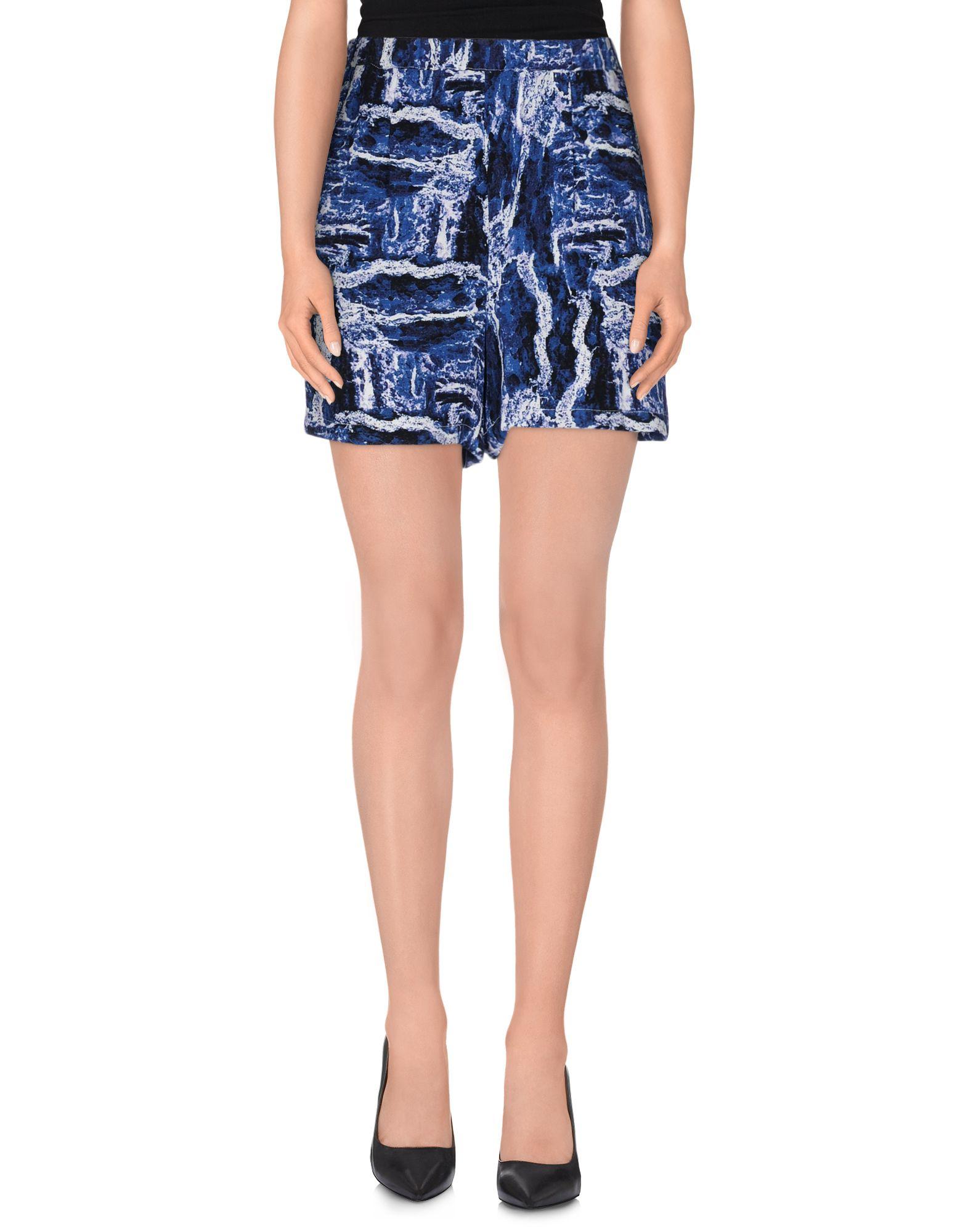 american retro shorts in blue lyst. Black Bedroom Furniture Sets. Home Design Ideas