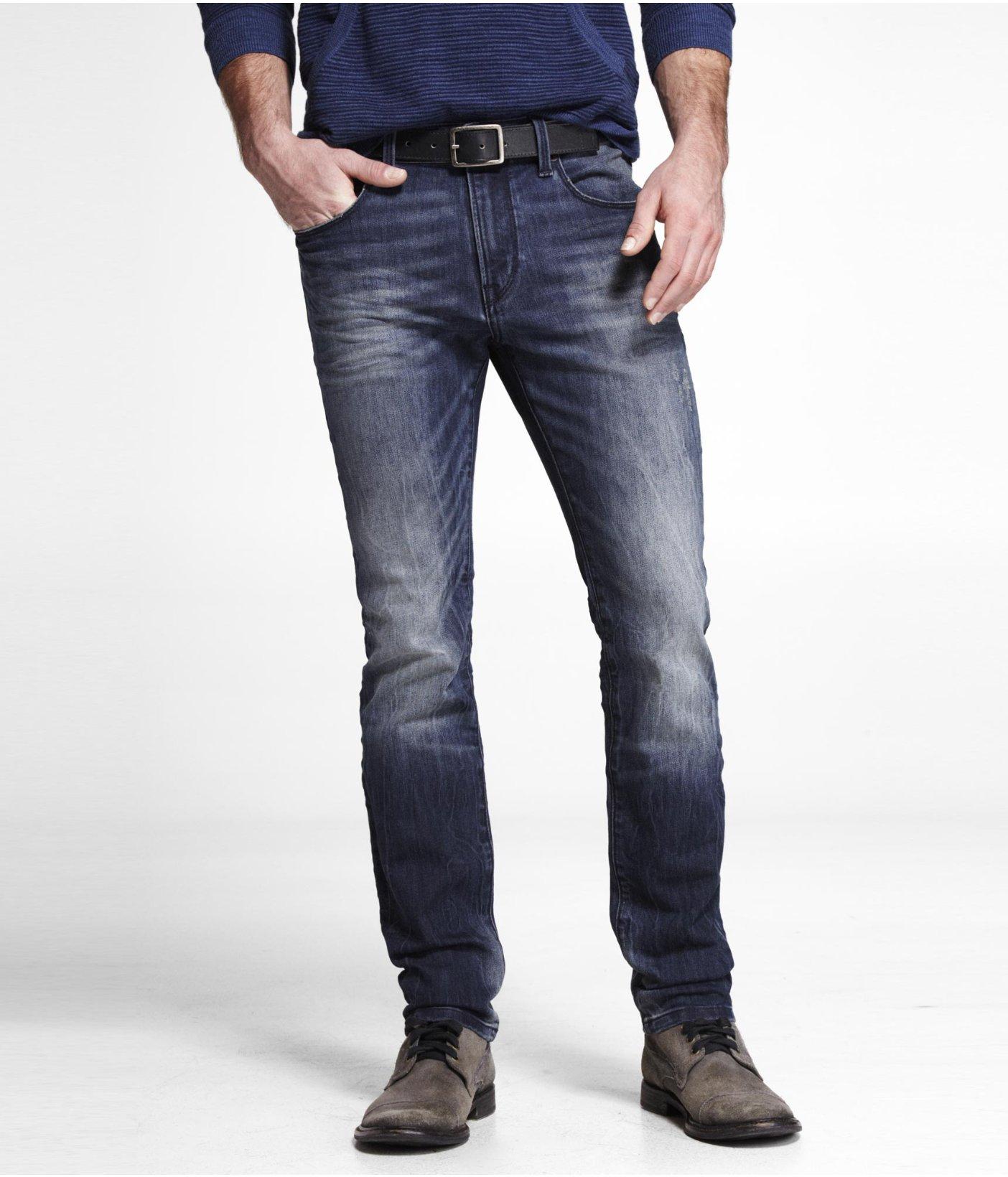 Lyst Express Alec Super Skinny Jean In Blue For Men